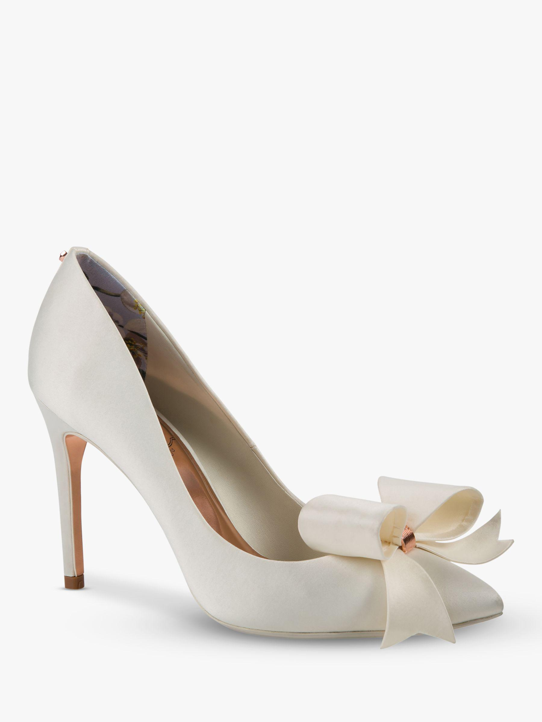 8001359d3122 Ted Baker Skalet 2 Bow Stiletto Heel Court Shoes in White - Lyst