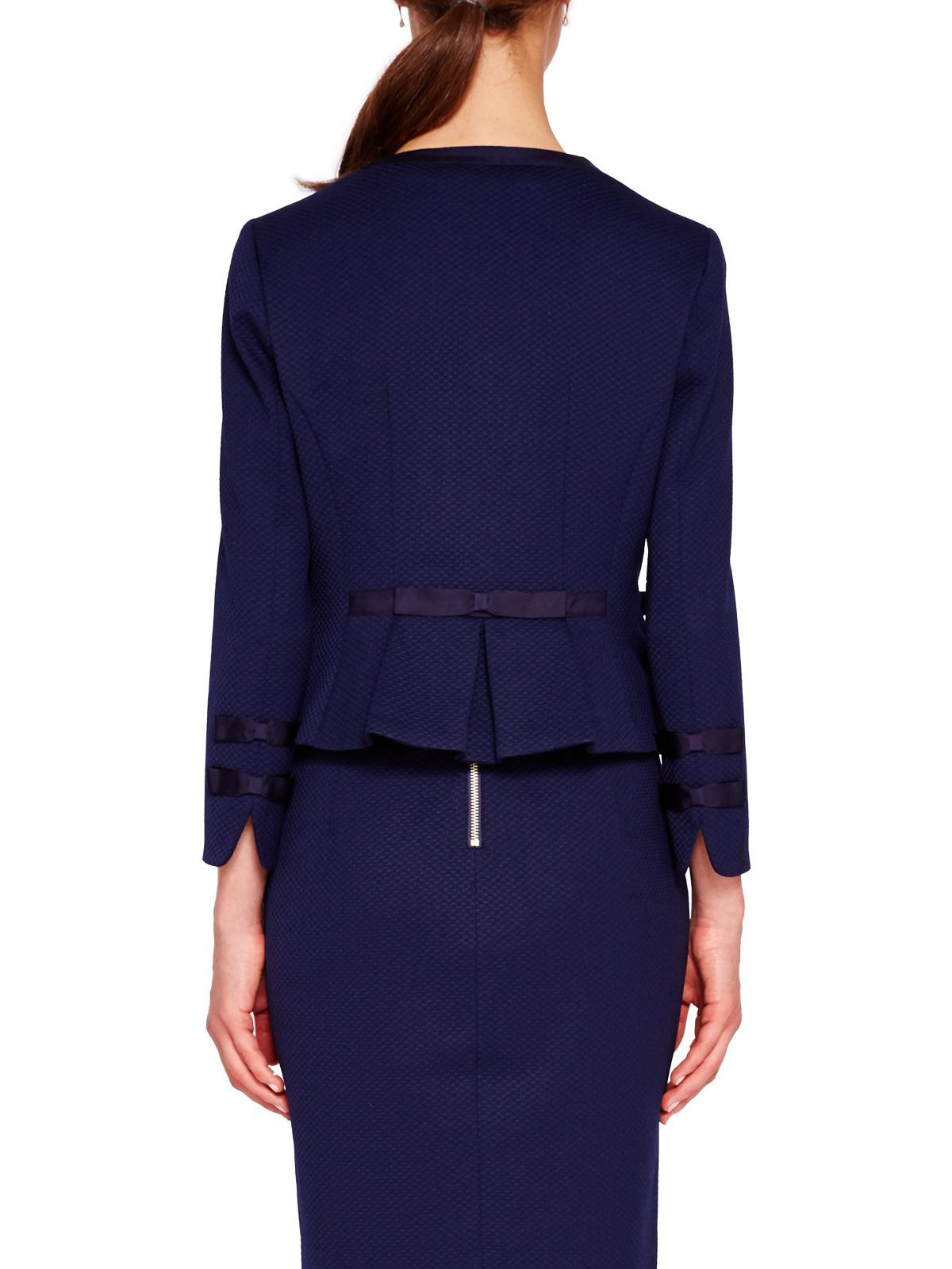 47e985e7cfe24e Ted Baker Nadae Cropped Bow Detail Jacket in Blue - Lyst