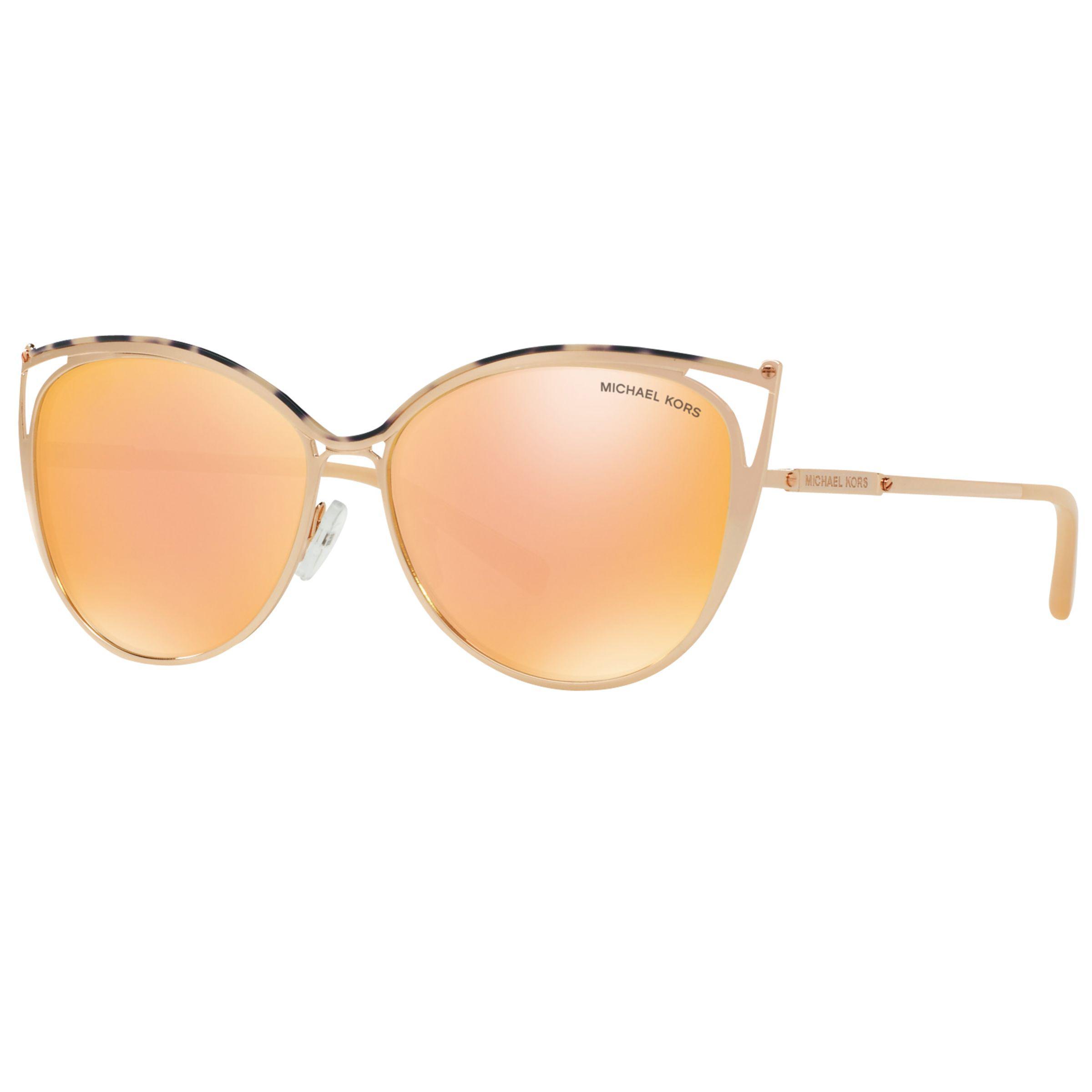11cb9a5ae2006 Michael Kors Mk1020 Ina Cat s Eye Sunglasses in Metallic - Lyst