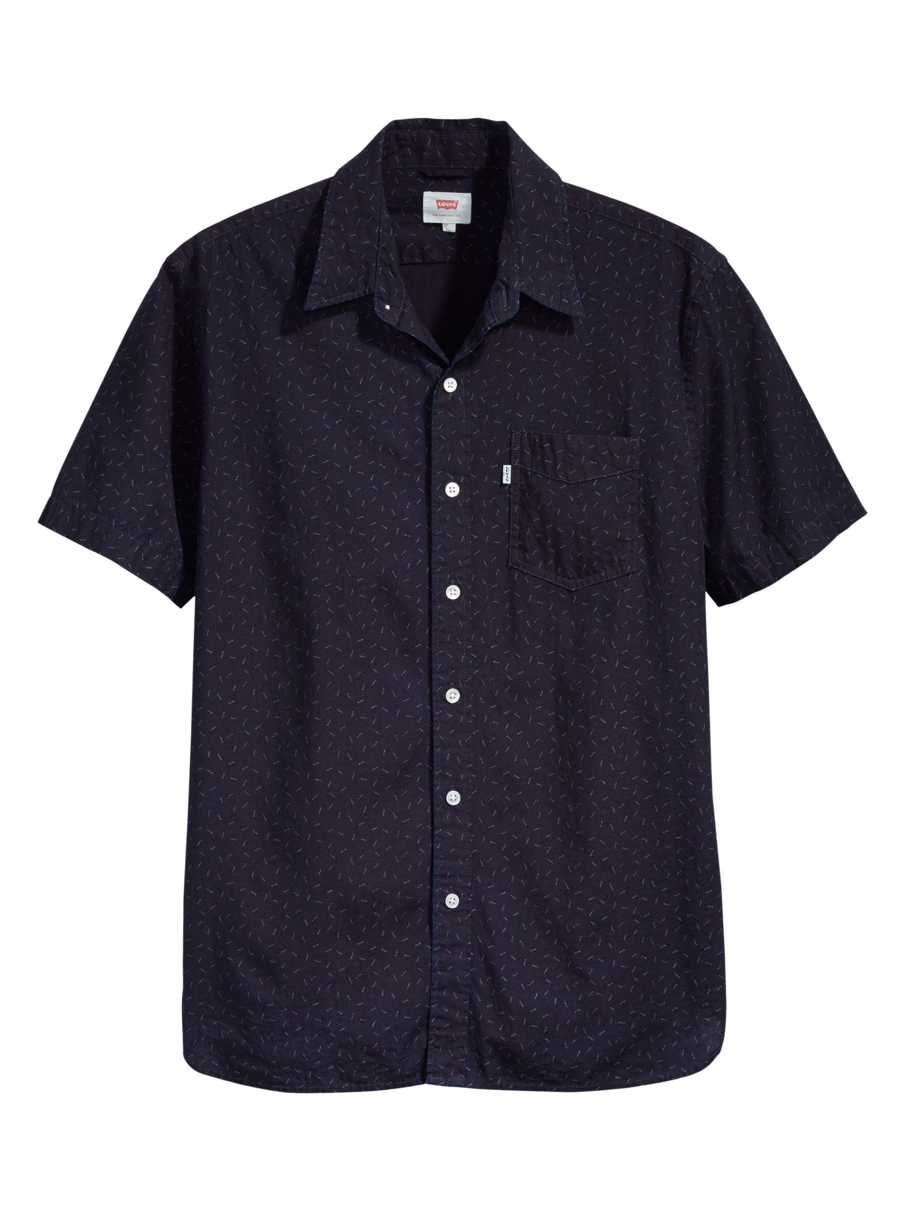 e8afb365e Levi's Sunset One Pocket Short Sleeve Shirt in Blue for Men - Lyst