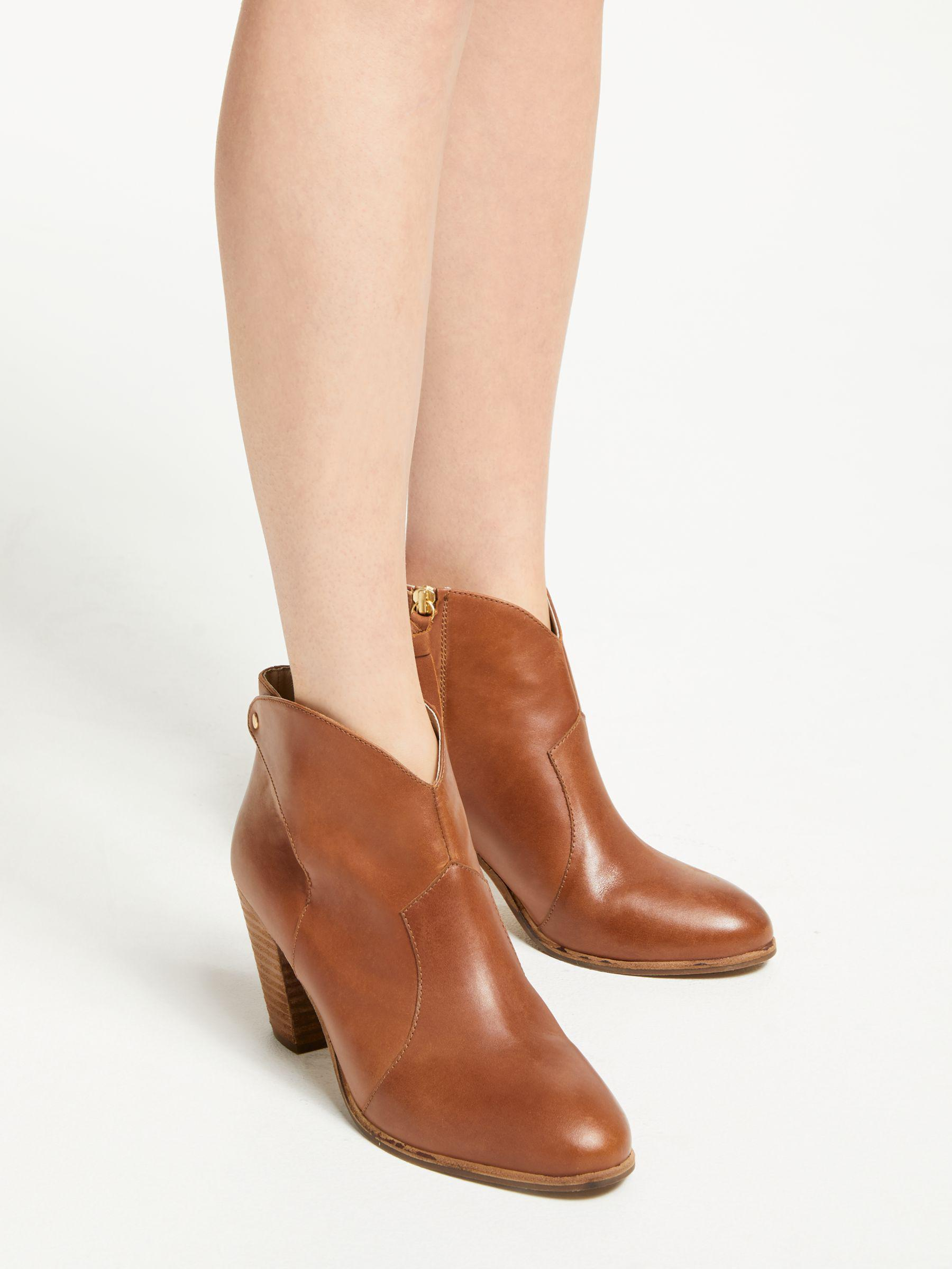 replicas on feet at best service Boden Denim Hoxton Heeled Ankle Boots in Tan Leather (Brown ...