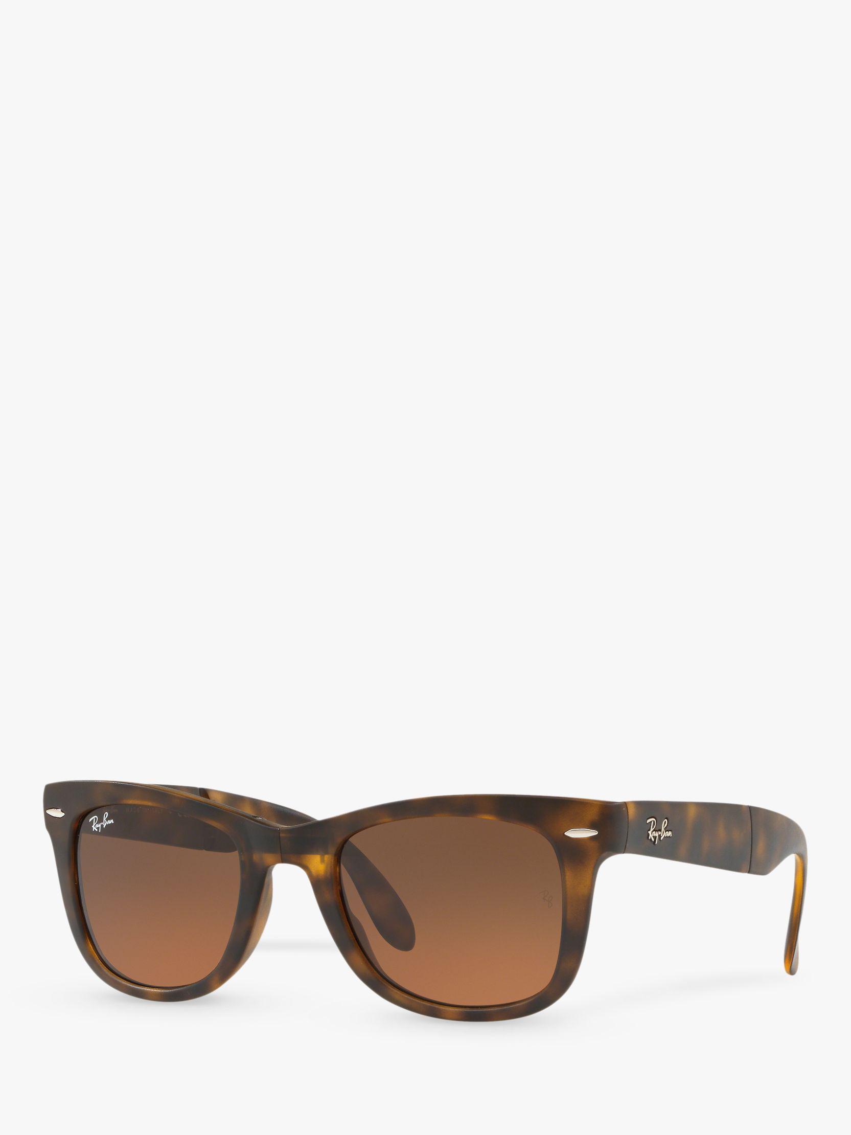 514ee15b6b Ray-Ban Rb4105 Men s Folding Wayfarer Sunglasses in Brown for Men - Lyst