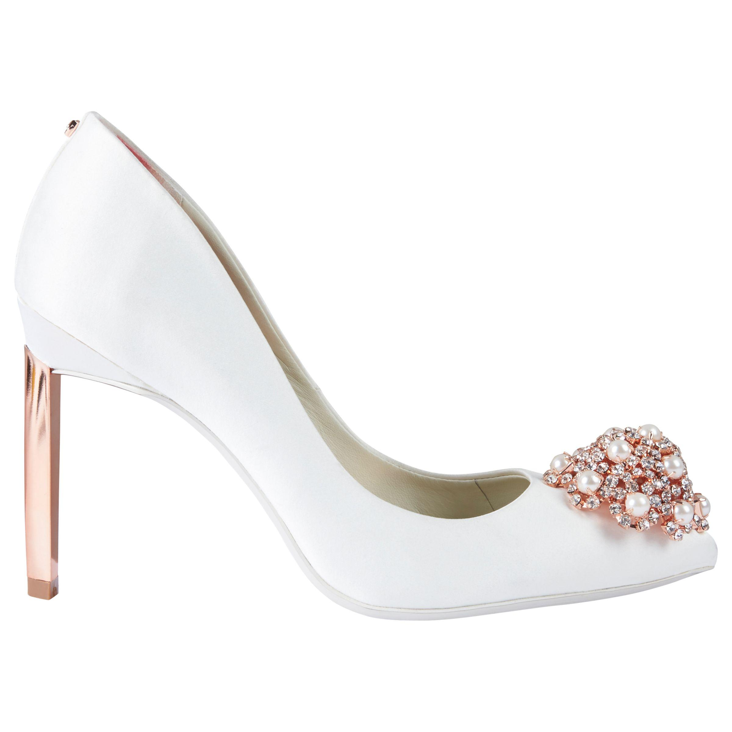 0c3ff20a9ef399 Ted Baker. Women s White Peetch 2 Embellished Stiletto Heel Court Shoes
