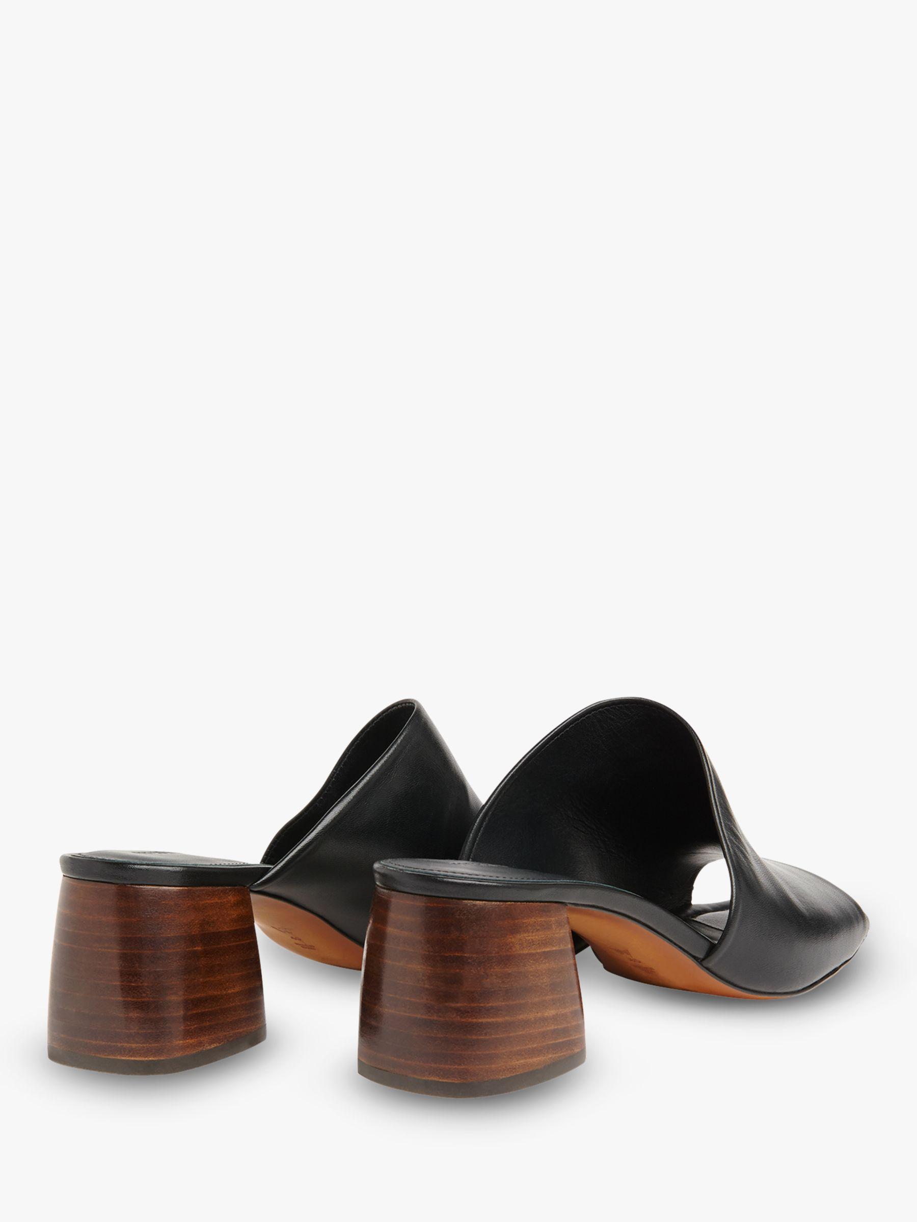 b5f38a04fff8 Whistles - Black Arcade Asymmetric Block Heel Sandals - Lyst. View  fullscreen