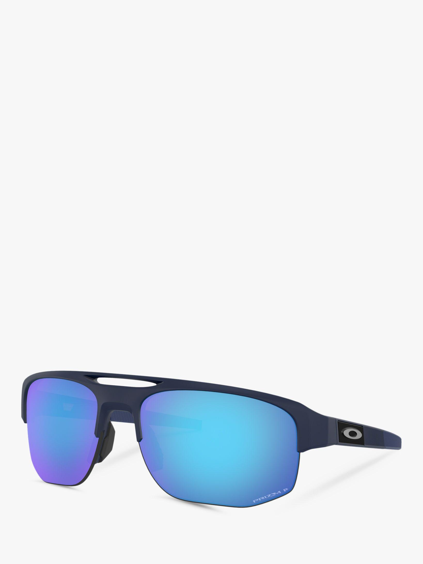2b76fe13267c1 Oakley. Blue Oo9424 Men s Mercenary Prizm Polarised Rectangular Sunglasses.  £180 From John Lewis and Partners