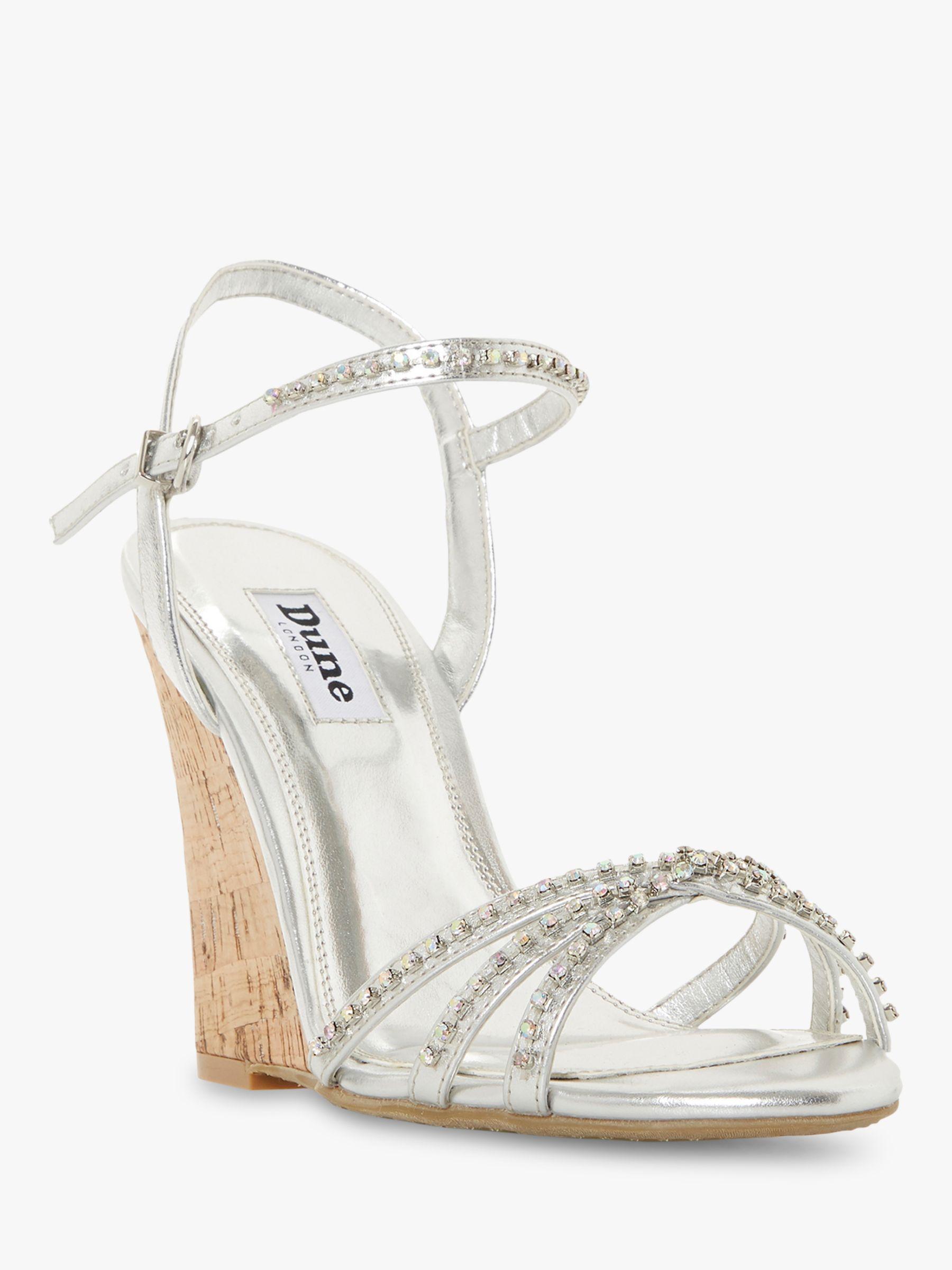 f9557af4db4e Dune Minke Wedge Heel Diamante Sandals in Metallic - Lyst
