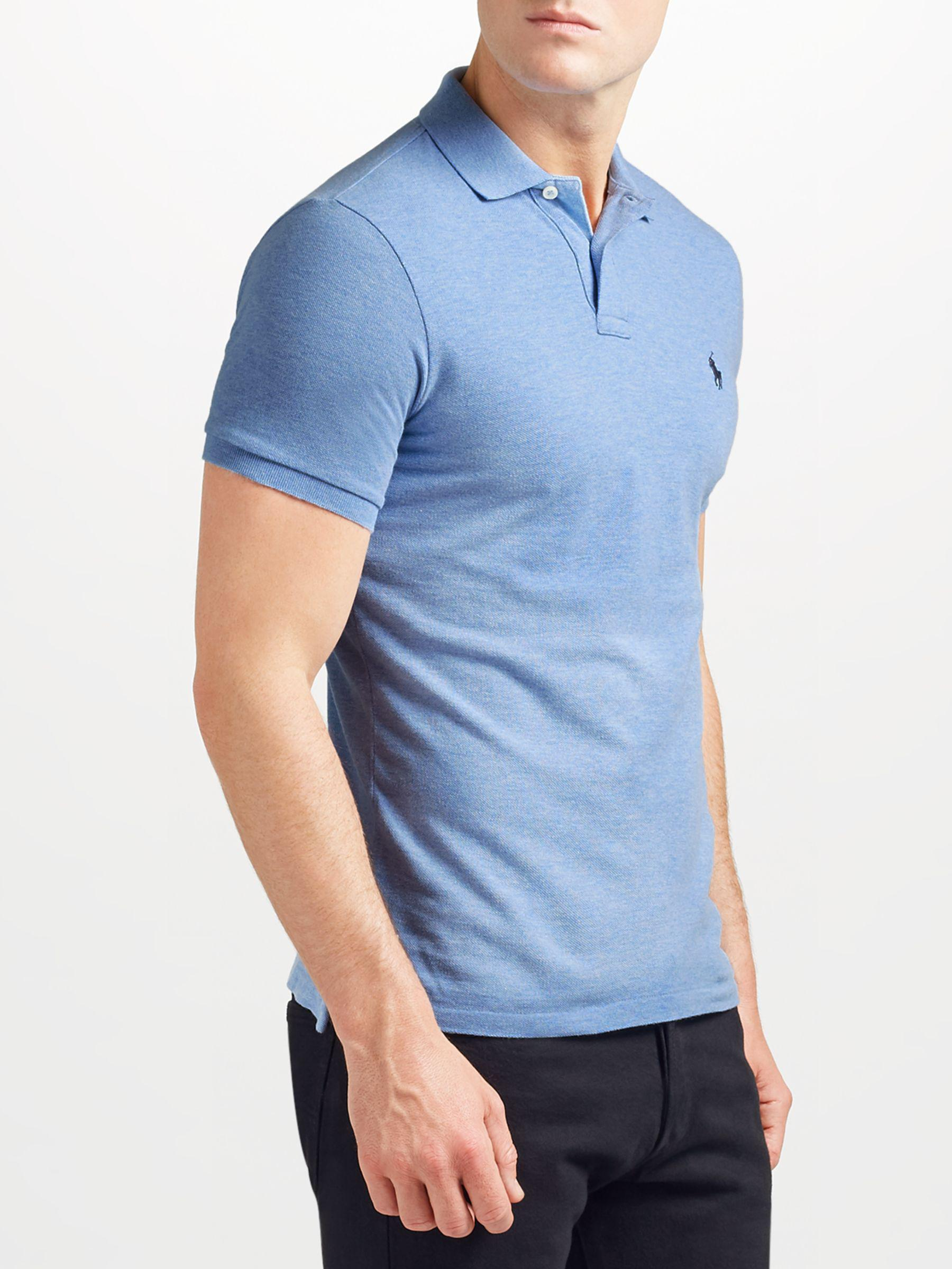 f7e666dfd Ralph Lauren Polo Slim Fit Polo Top in Blue for Men - Save 51% - Lyst