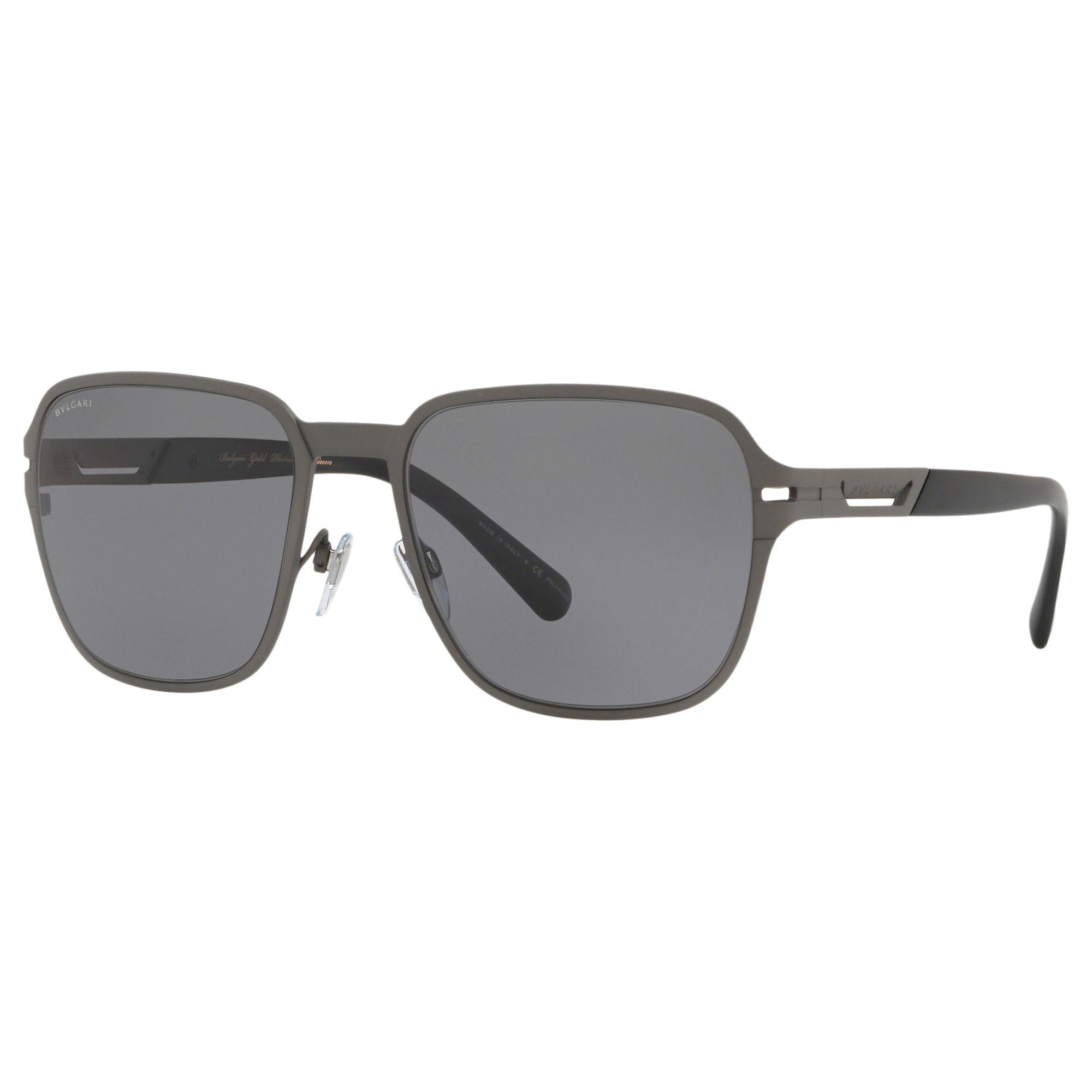 80b370012b7 BVLGARI Bv5046tk Men s Polarised Titanium Square Sunglasses in Gray ...