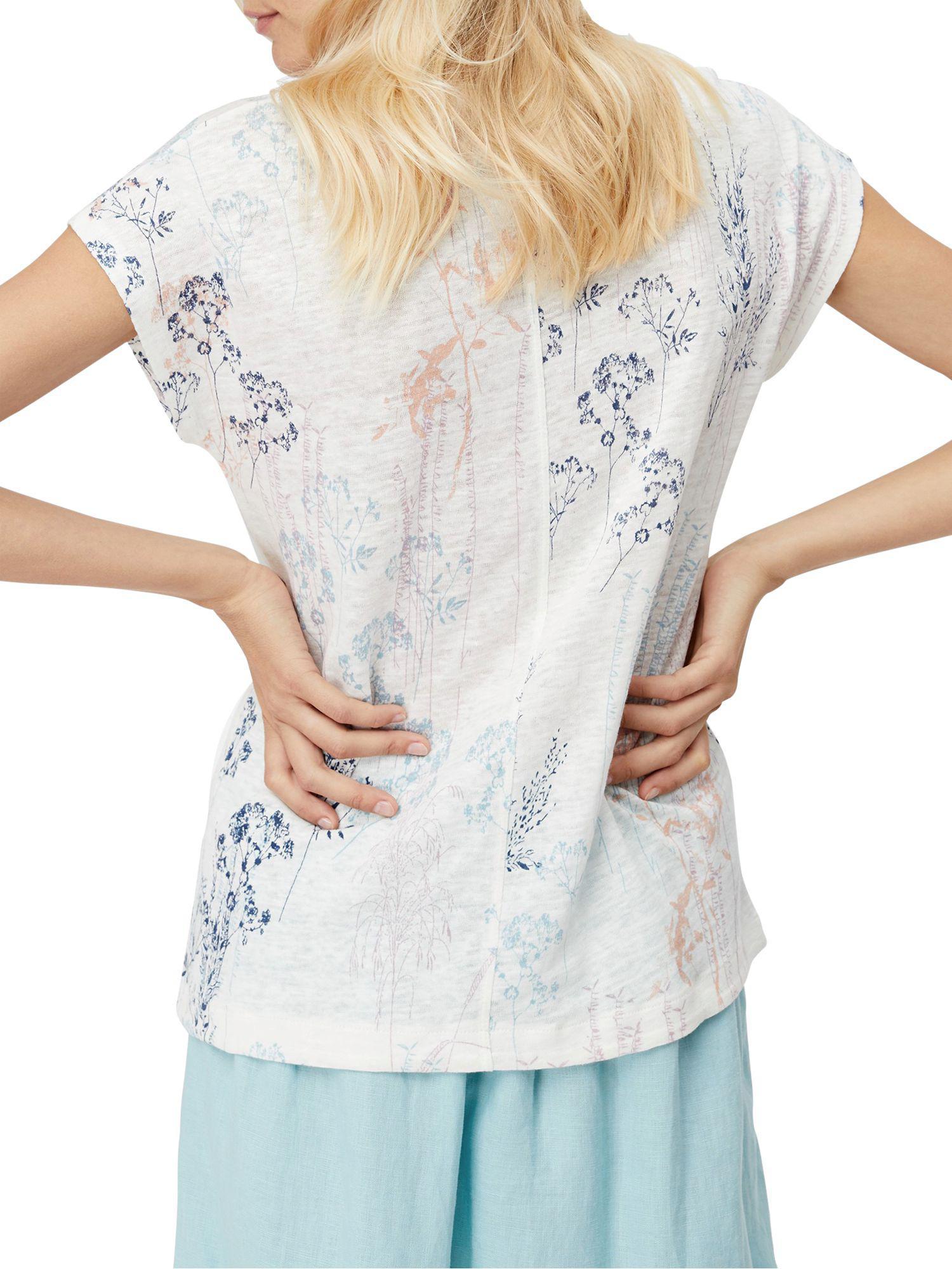 c6a1dfbad9f White Stuff Summer Print Highline Linen Jersey T-shirt in White - Lyst