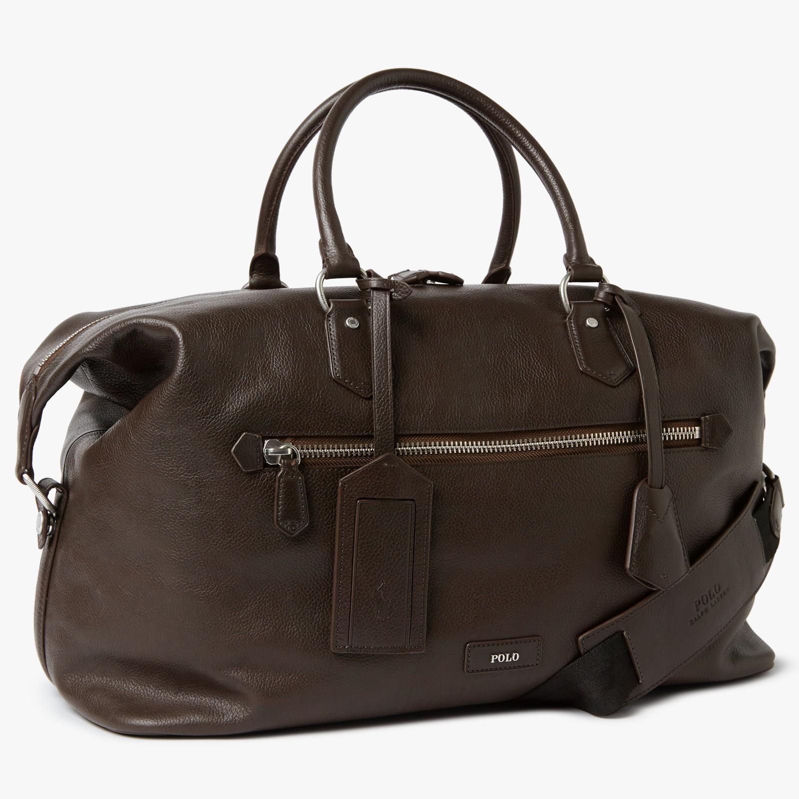 b2ba814ed75 Ralph Lauren Polo Pebble Leather Duffle Bag in Brown for Men - Lyst