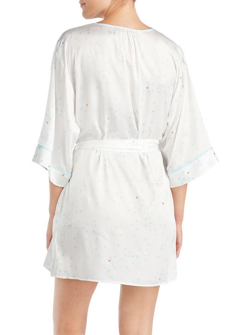 Kate Spade Bridal Gold Dot Dressing Gown - Lyst