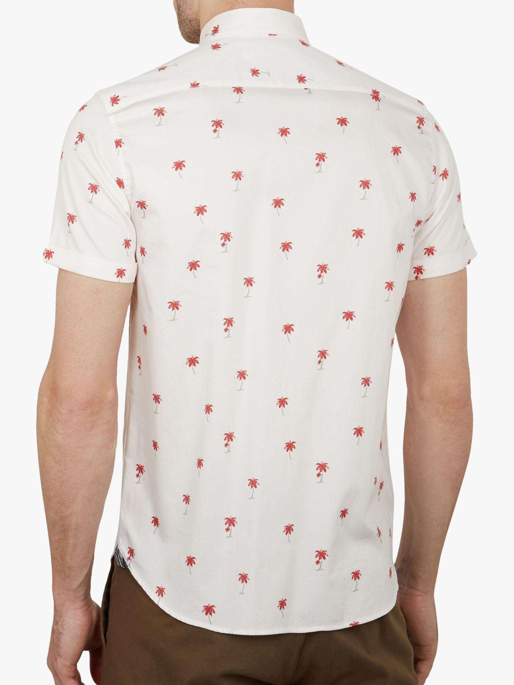 8ffd56d39ea1 Ted Baker Toadtwo Palm Print Shirt in Pink for Men - Lyst