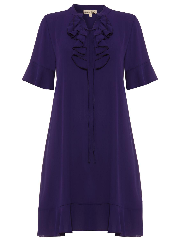 d2868435aad Phase Eight - Purple Sarah Frill Dress - Lyst. View fullscreen