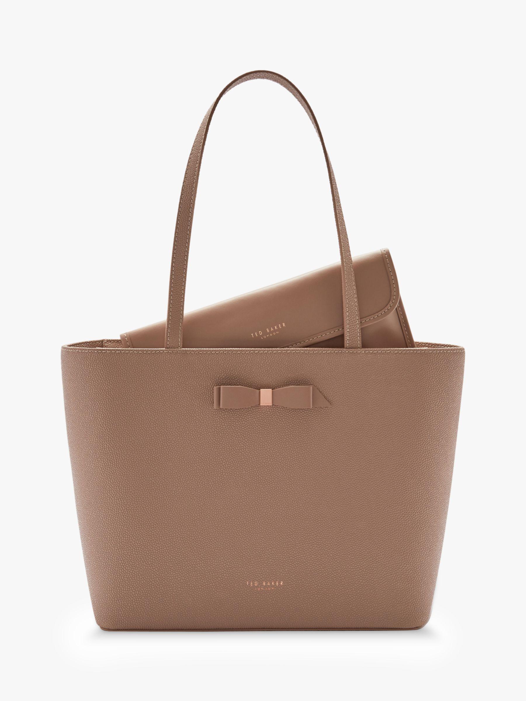 3955e4641bde Ted Baker - Brown Jessica Bow Leather Shopper Bag - Lyst. View fullscreen