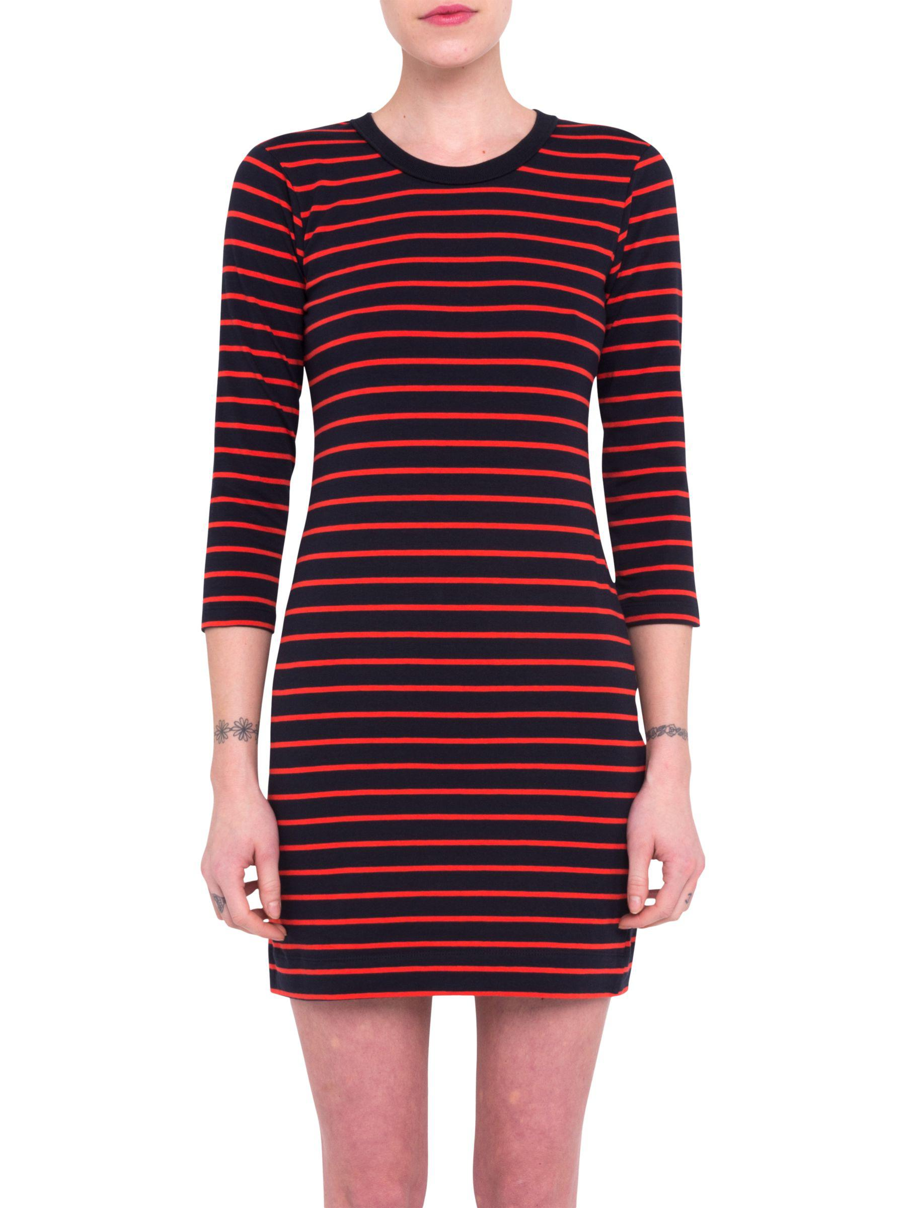 9c016545598 French Connection Red And Black Striped Dress – DACC
