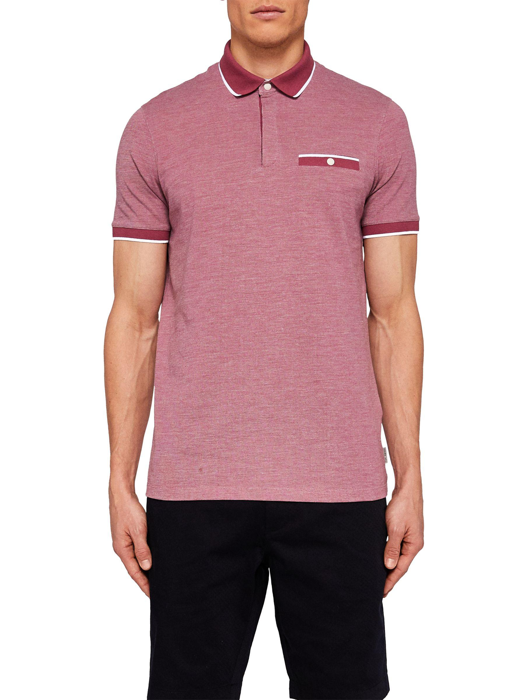 6bf432b5 Ted Baker Depot Short Sleeve Polo Shirt in Pink for Men - Lyst
