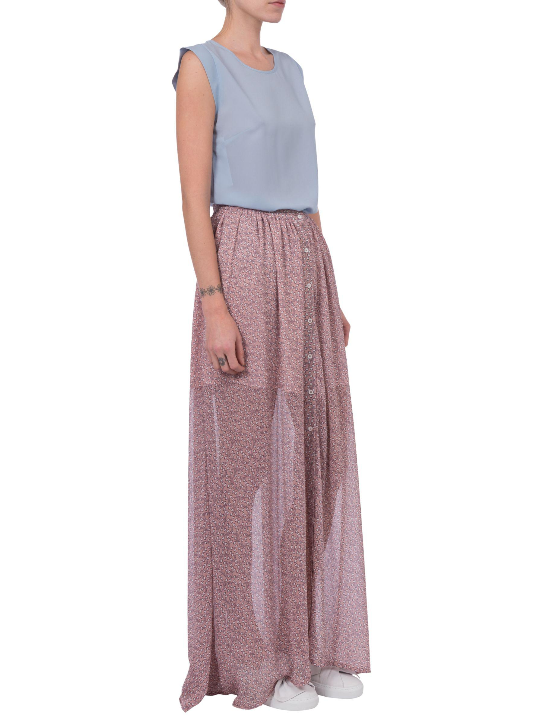 61d6cf31c0 French Connection - Multicolor Elao Sheer Maxi Skirt - Lyst. View fullscreen