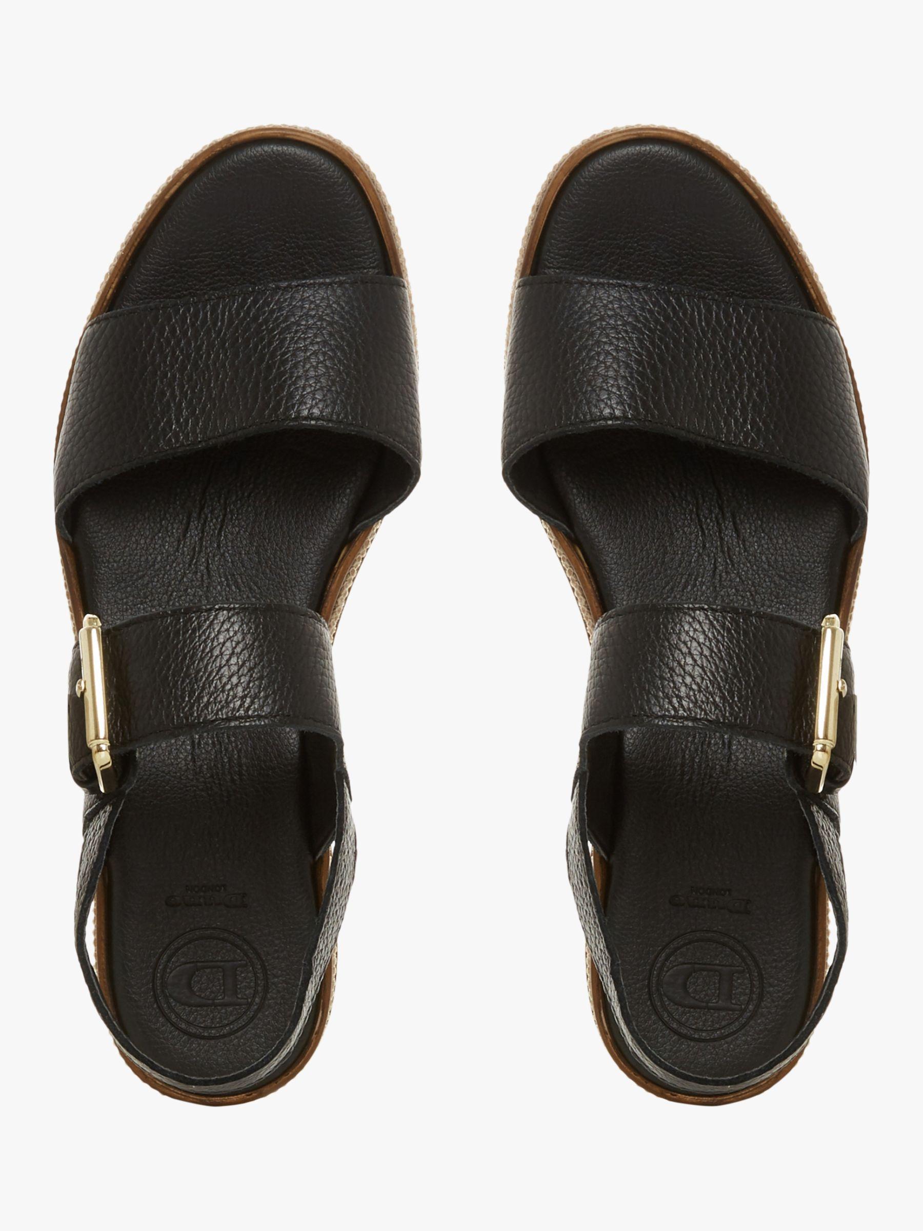 5a8d40f8b1e Dune Kaze Espadrille Flatform Sandals in Black - Lyst