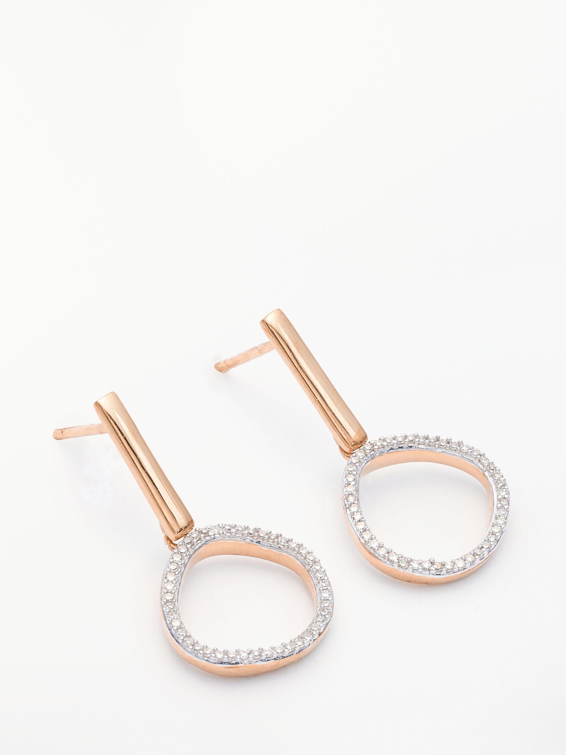 ef260c3f2b90 Modern Rarity. Women's Metallic Diamond Open Circle Drop Earrings. £220  From John Lewis and Partners