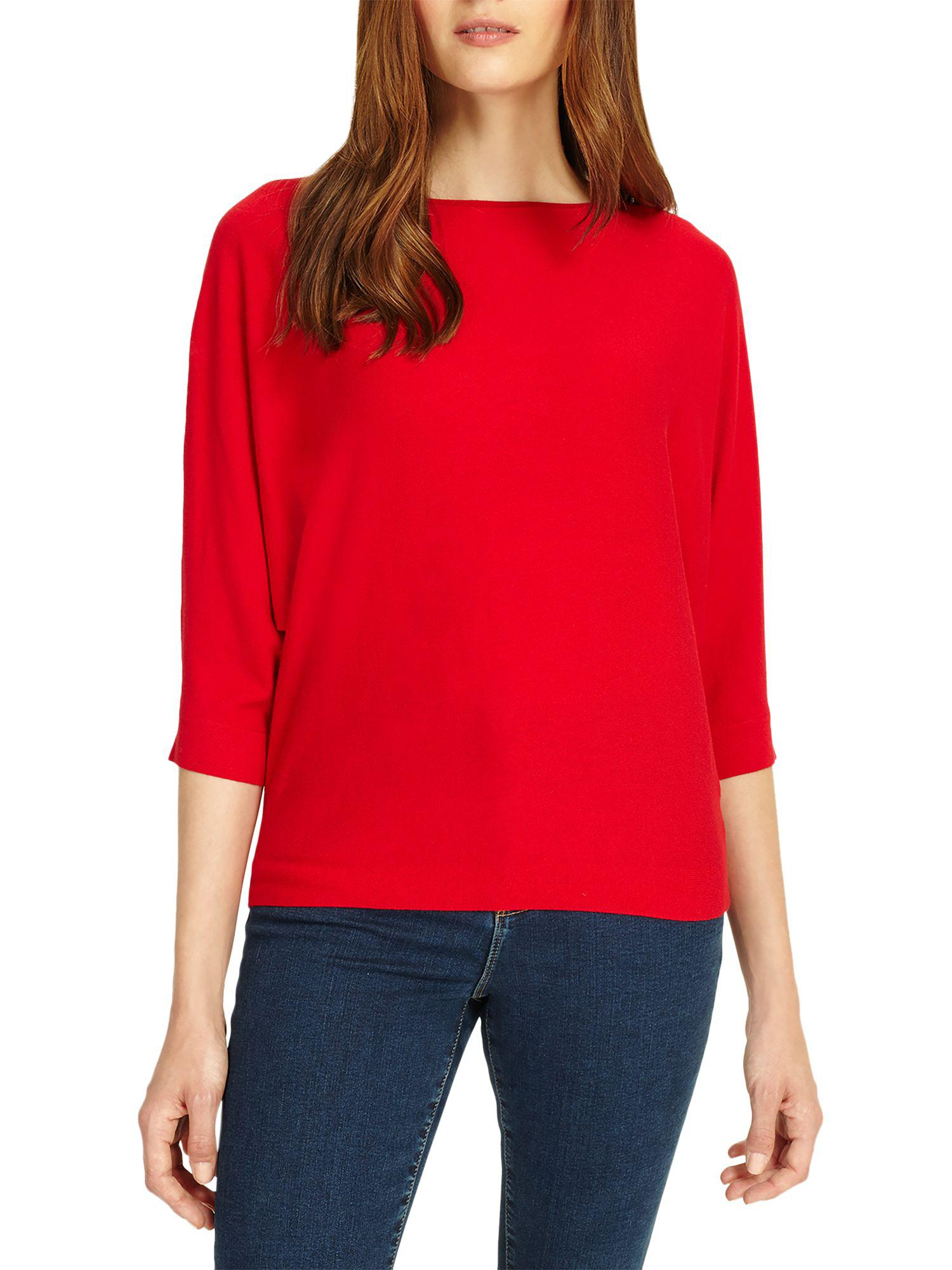 15e7ca5b64f Phase Eight Cristine Batwing Jumper in Red - Lyst