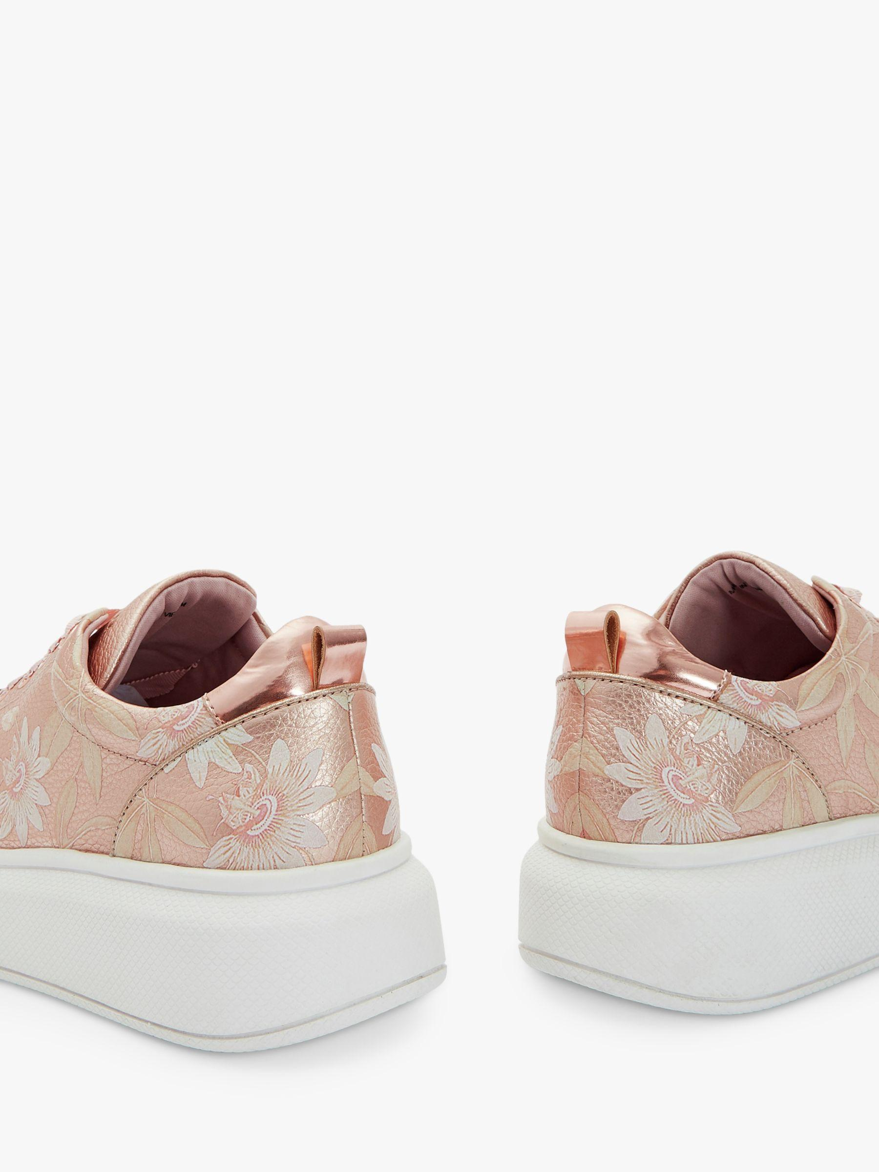 20885fe2f Ted Baker - Pink Alibe 4 Floral Leather Trainers - Lyst. View fullscreen
