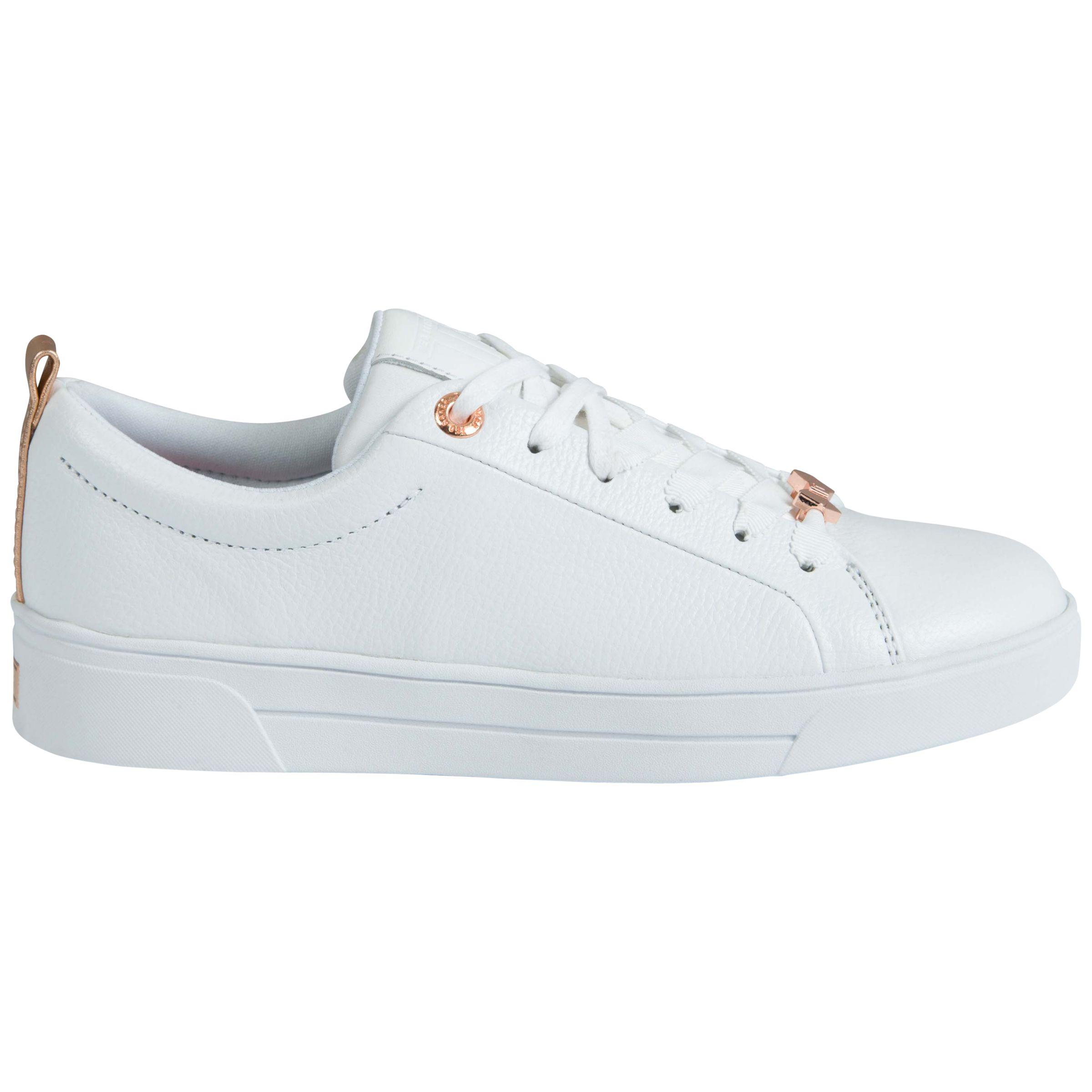 5226b3fea Ted Baker Gielli Lace Up Trainers in White - Lyst