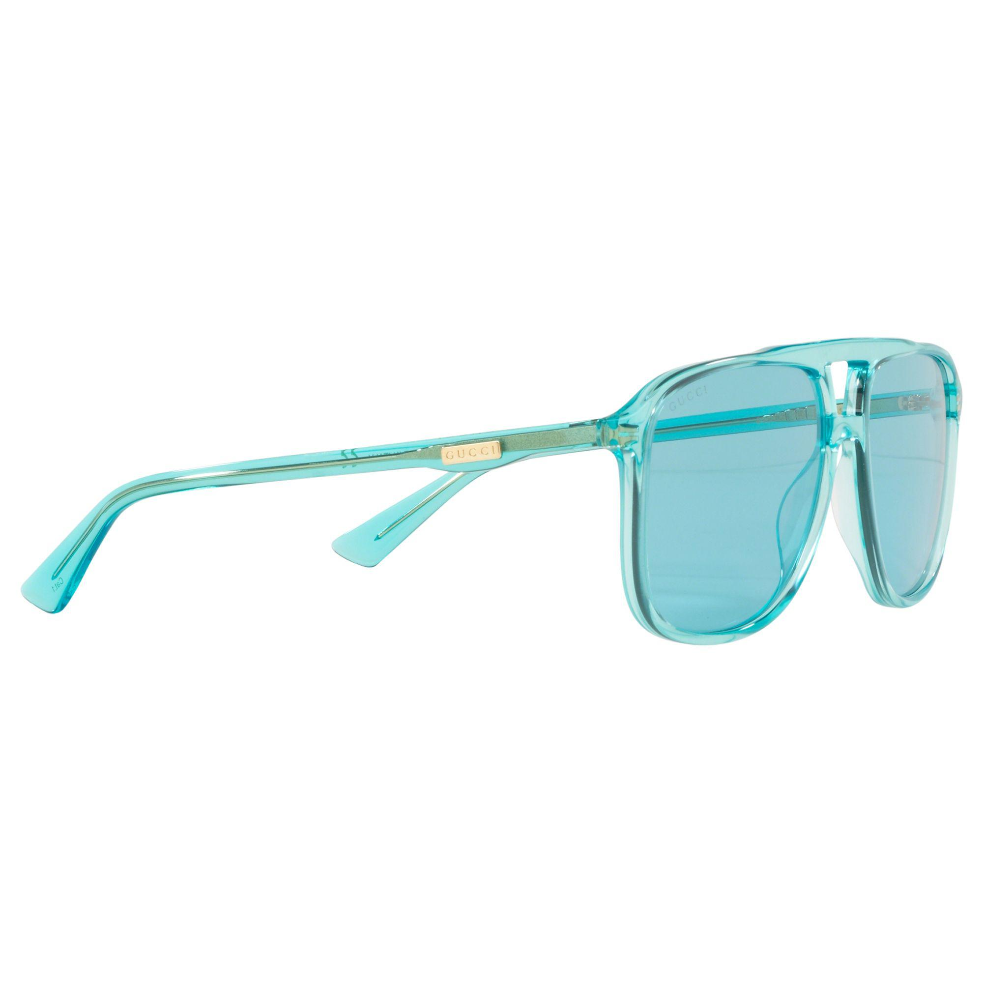 8f446d0f62e Gucci GG0262 Women s Square Sunglasses in Blue - Lyst
