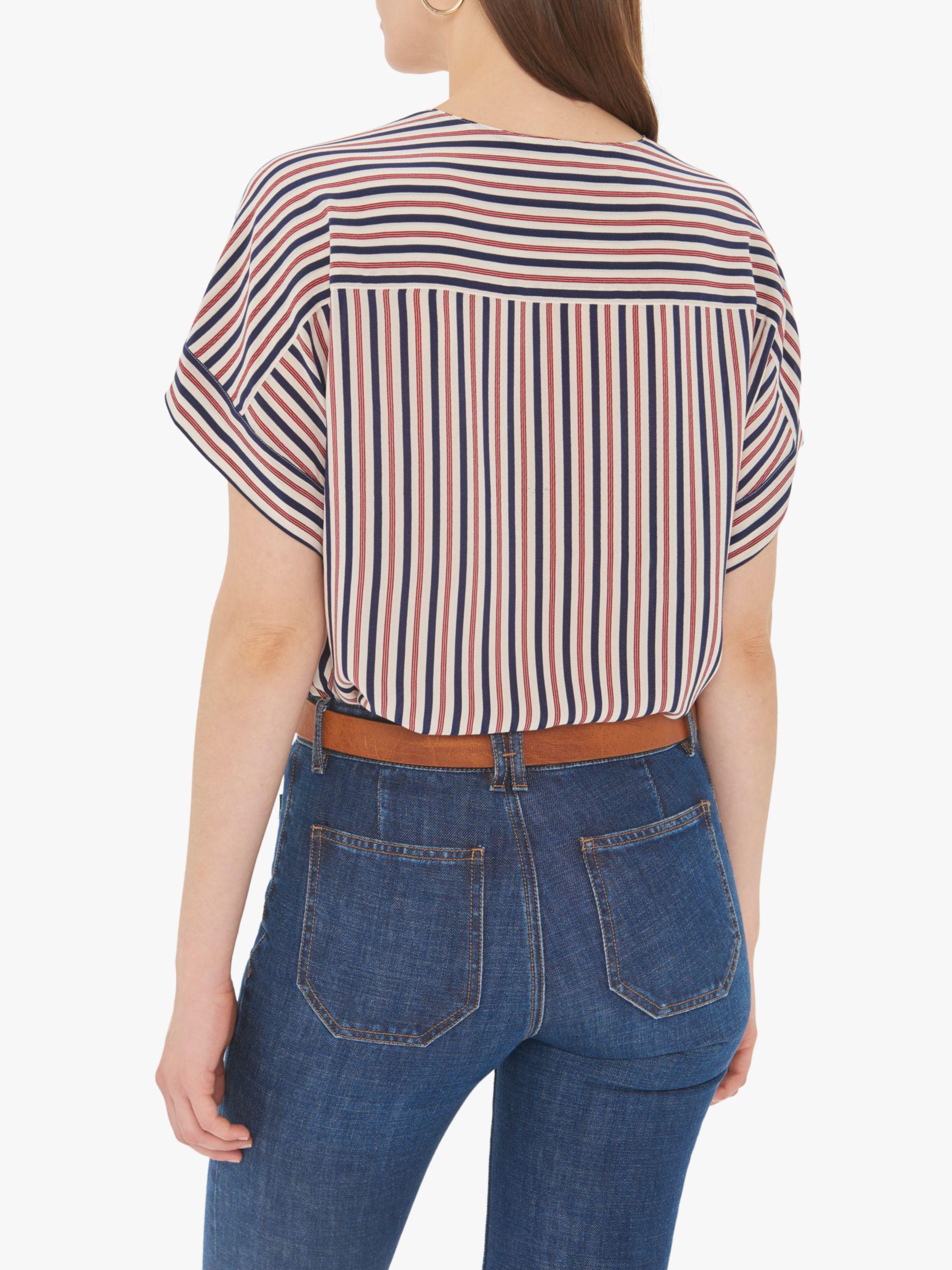 b3e72eaae51e Gerard Darel - Multicolor Eugenie Stripe V Neck Silk Blouse - Lyst. View  fullscreen