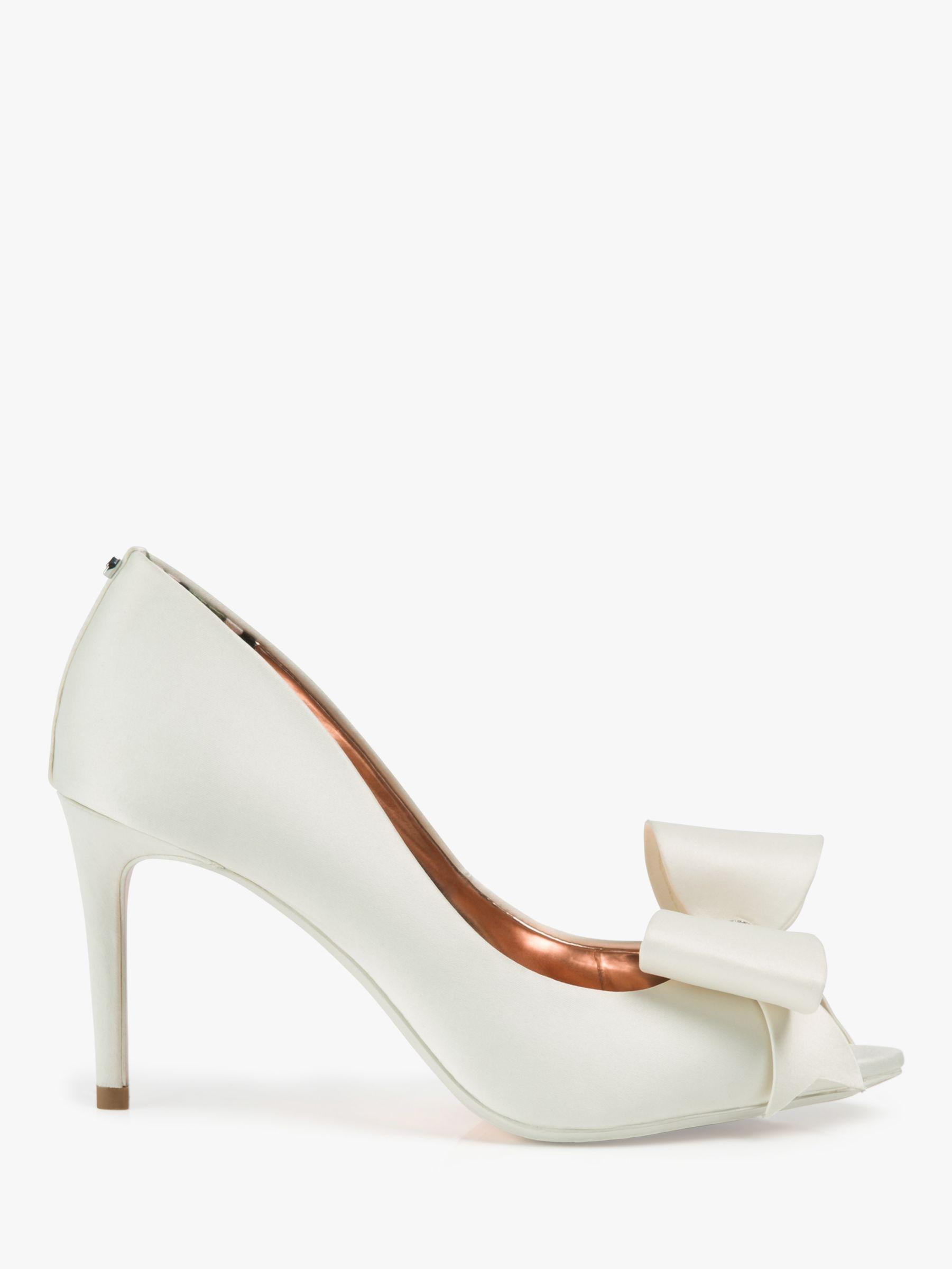 287d1b1ed20 Ted Baker Nualas Bow Heel Court Shoes in White - Save 20% - Lyst