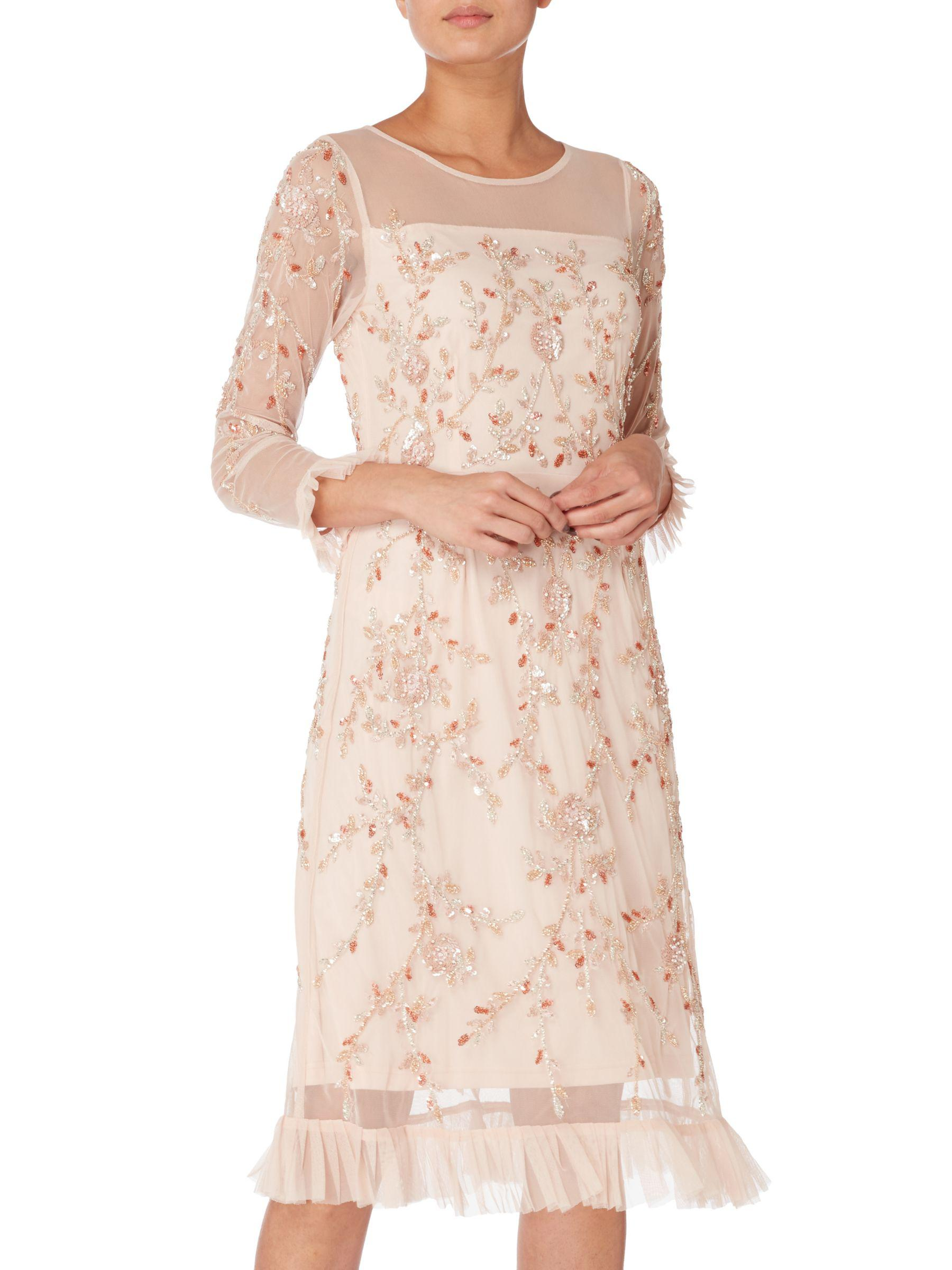 ab5cf25a5dcc Raishma Floral Embellished Frill Dress in Pink - Lyst