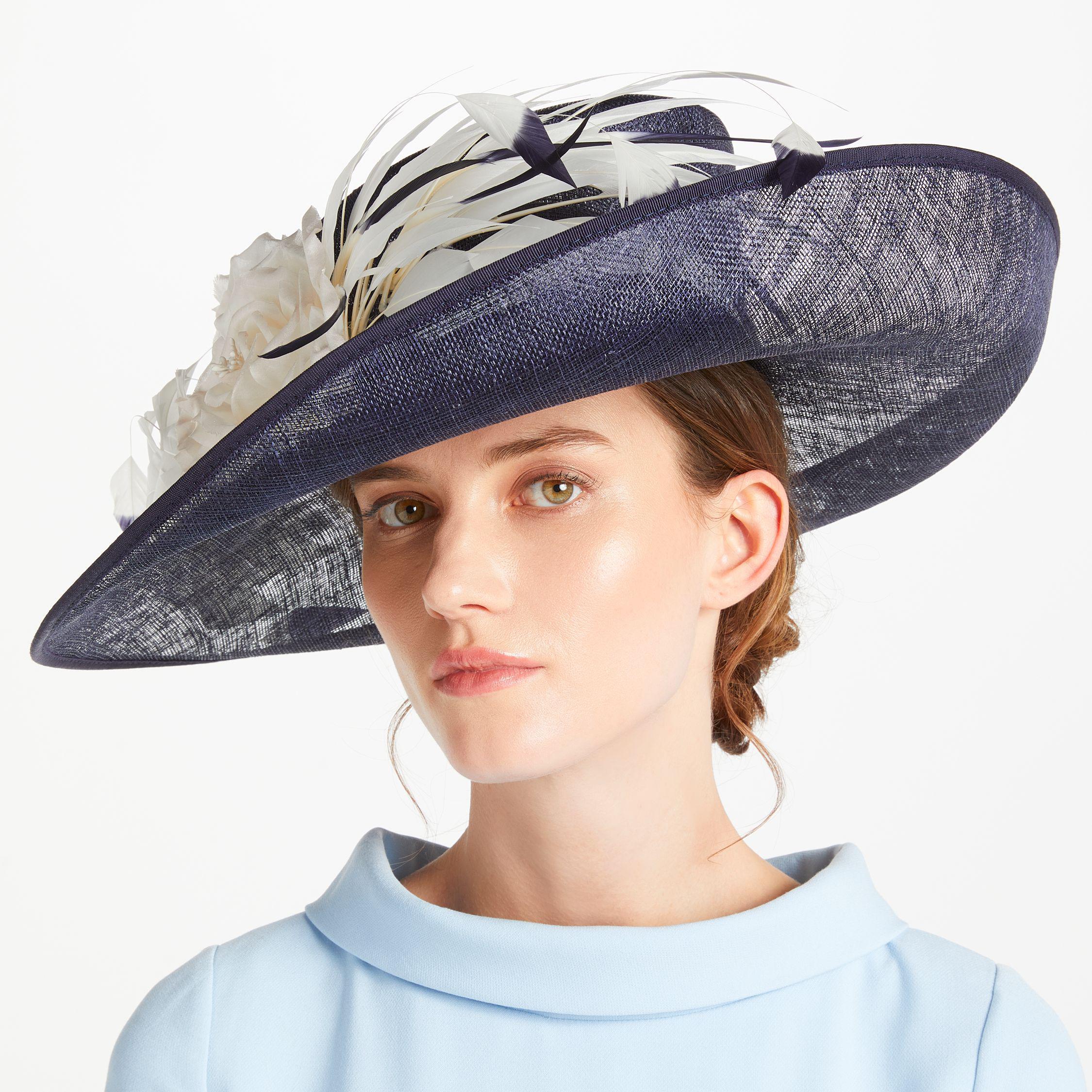 3d91ed2421d6d John Lewis Kelly Side Upturn Flower Detail Occasion Hat in Blue - Lyst