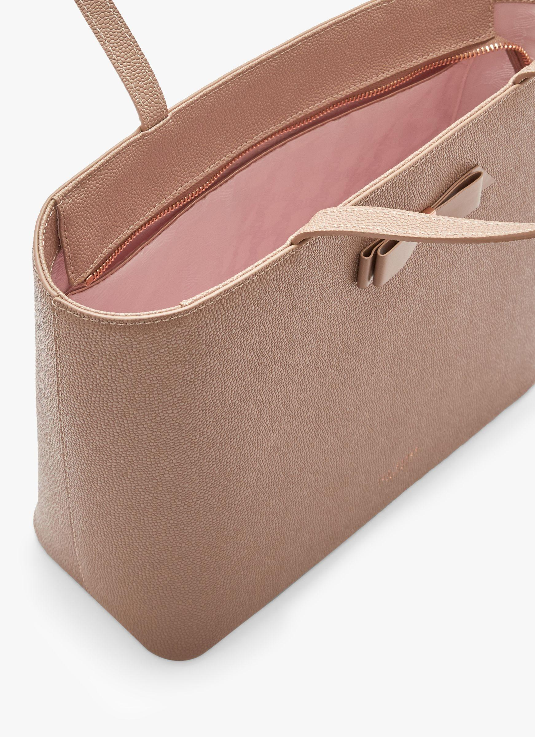 4c040a234497 Ted Baker - Brown Jessica Bow Leather Shopper Bag - Lyst. View fullscreen