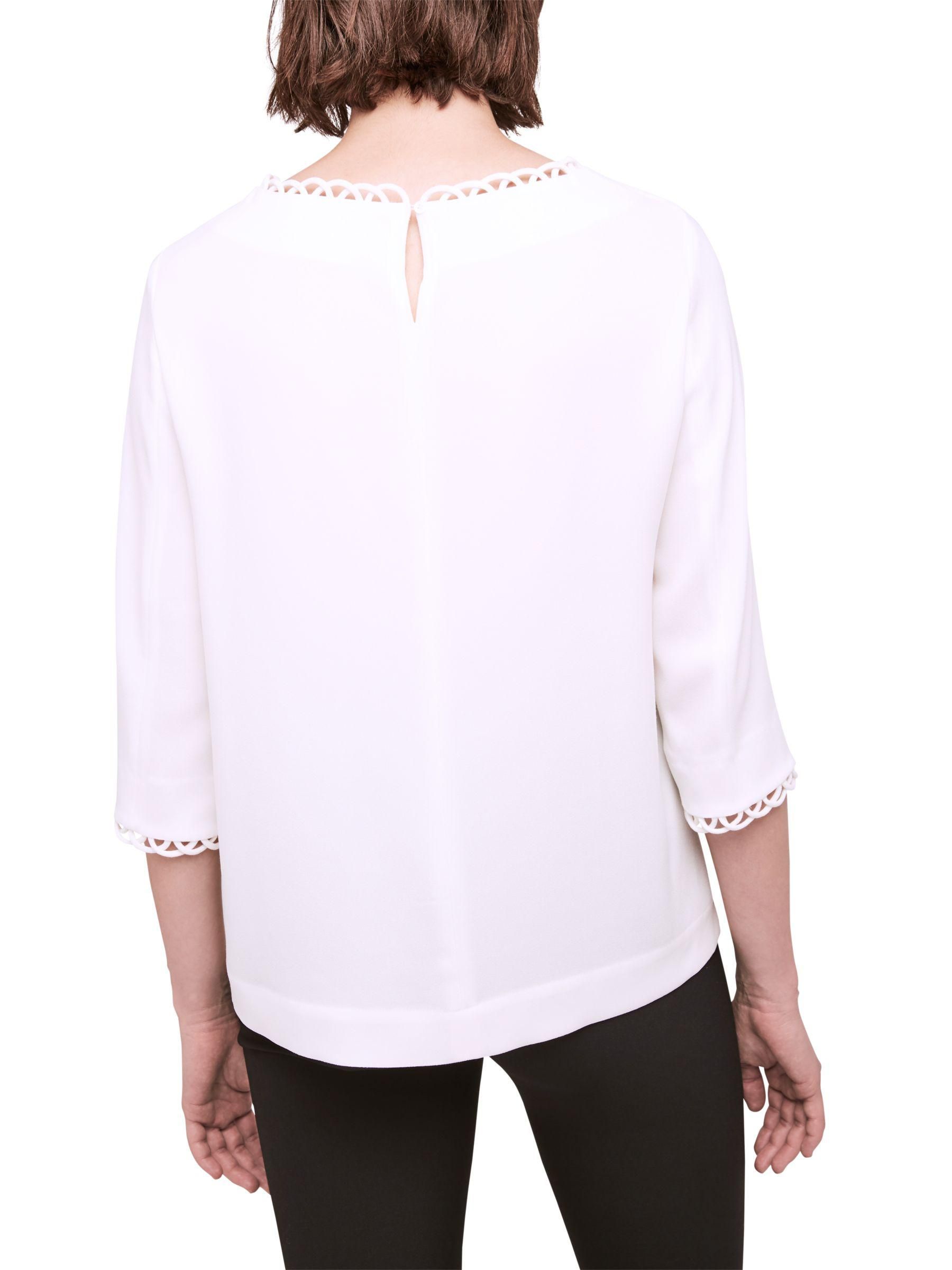 Gerard Darel. Women's White Babel Blouse