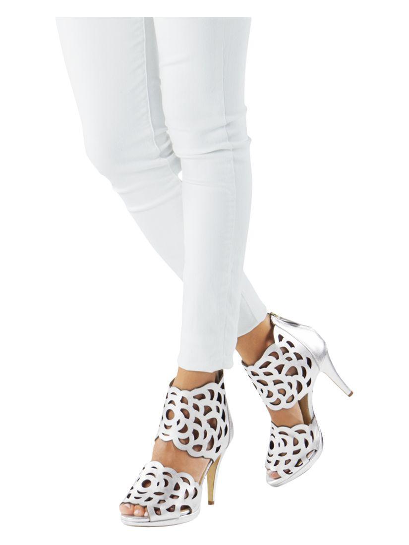 228c8452a2e428 SARGOSSA - Metallic Inspire Heeled Sandals - Lyst. View fullscreen