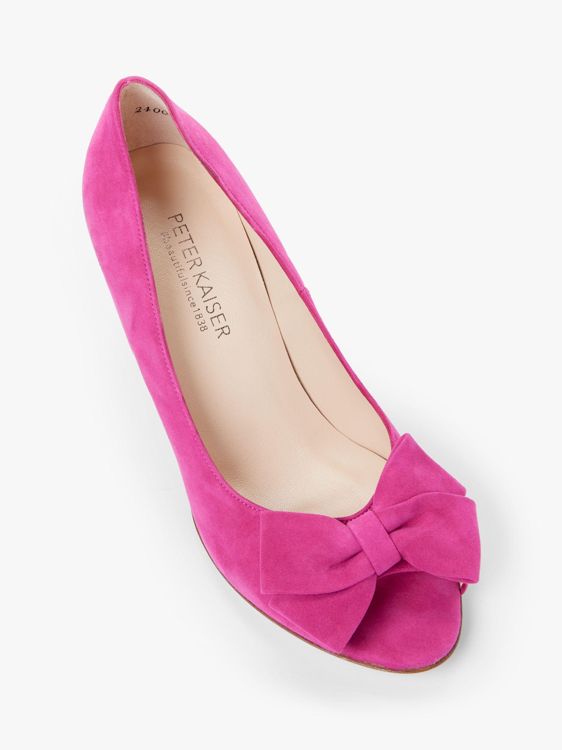 0e538cb2e72d6 Peter Kaiser - Pink Alenja Bow Cone Heel Court Shoes - Lyst. View fullscreen