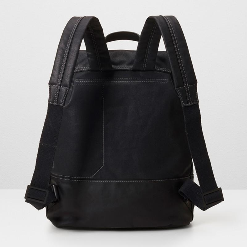 Ally Capellino Dean Waxed Canvas Backpack in Black - Lyst 91865d7a37