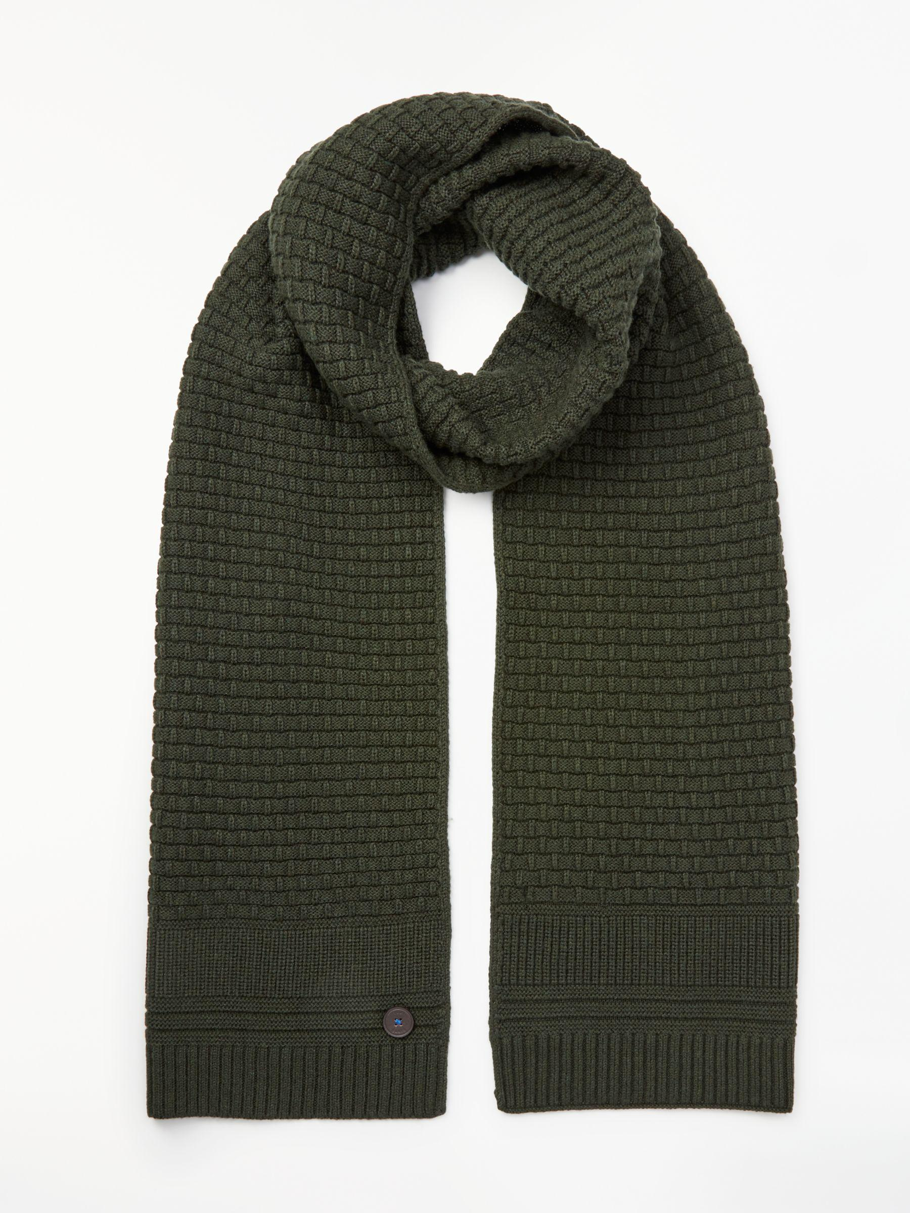 30ddb13166df Ted Baker Textured Scarf in Green for Men - Lyst