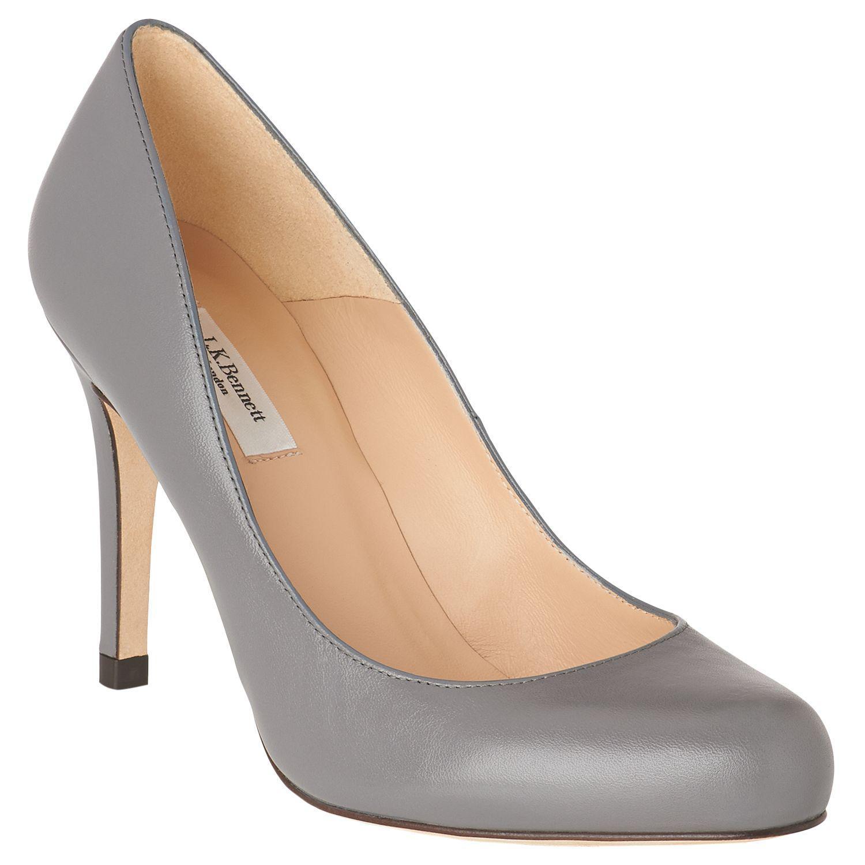 71a1c3660b L.K.Bennett Stila Grey Leather Heels in Gray - Lyst