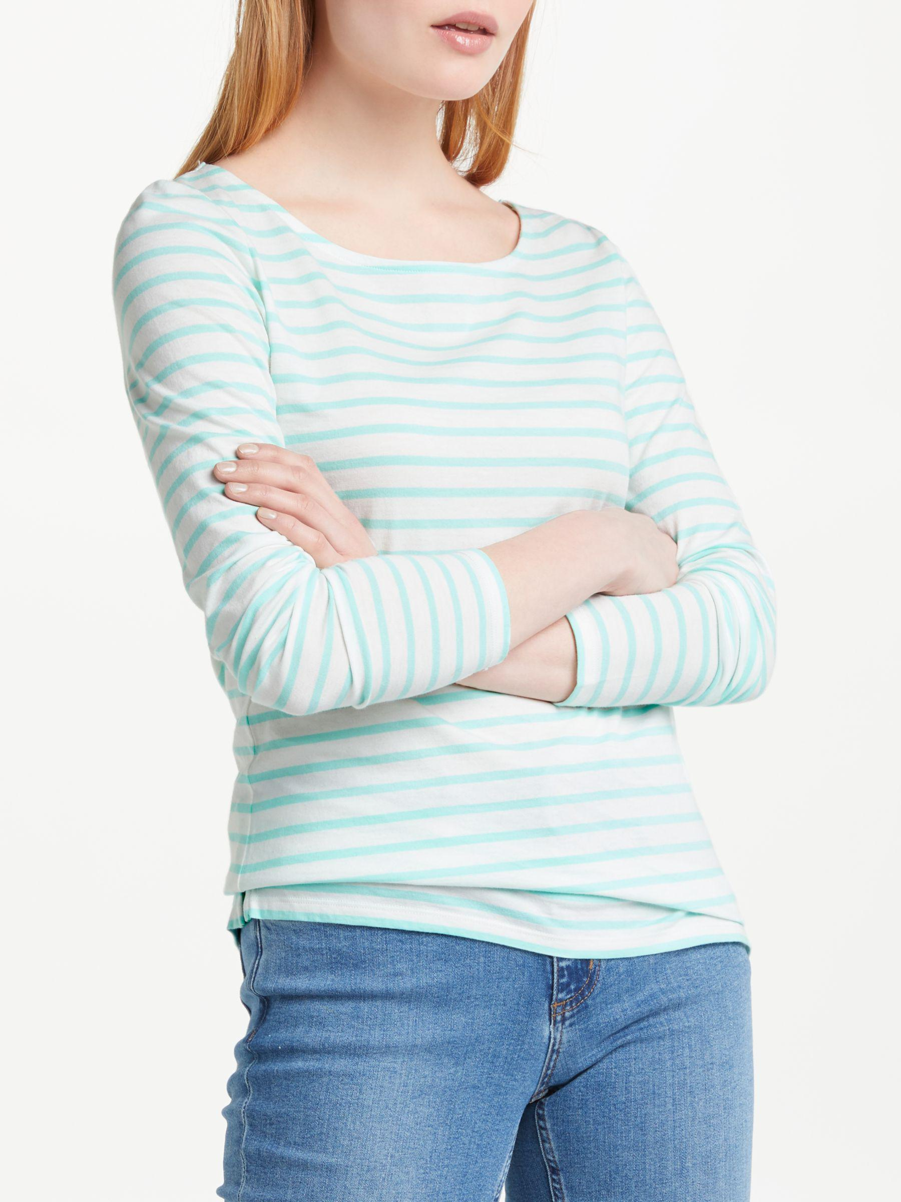 170d52ef62 Boden Long Sleeve Breton Top in Blue - Lyst