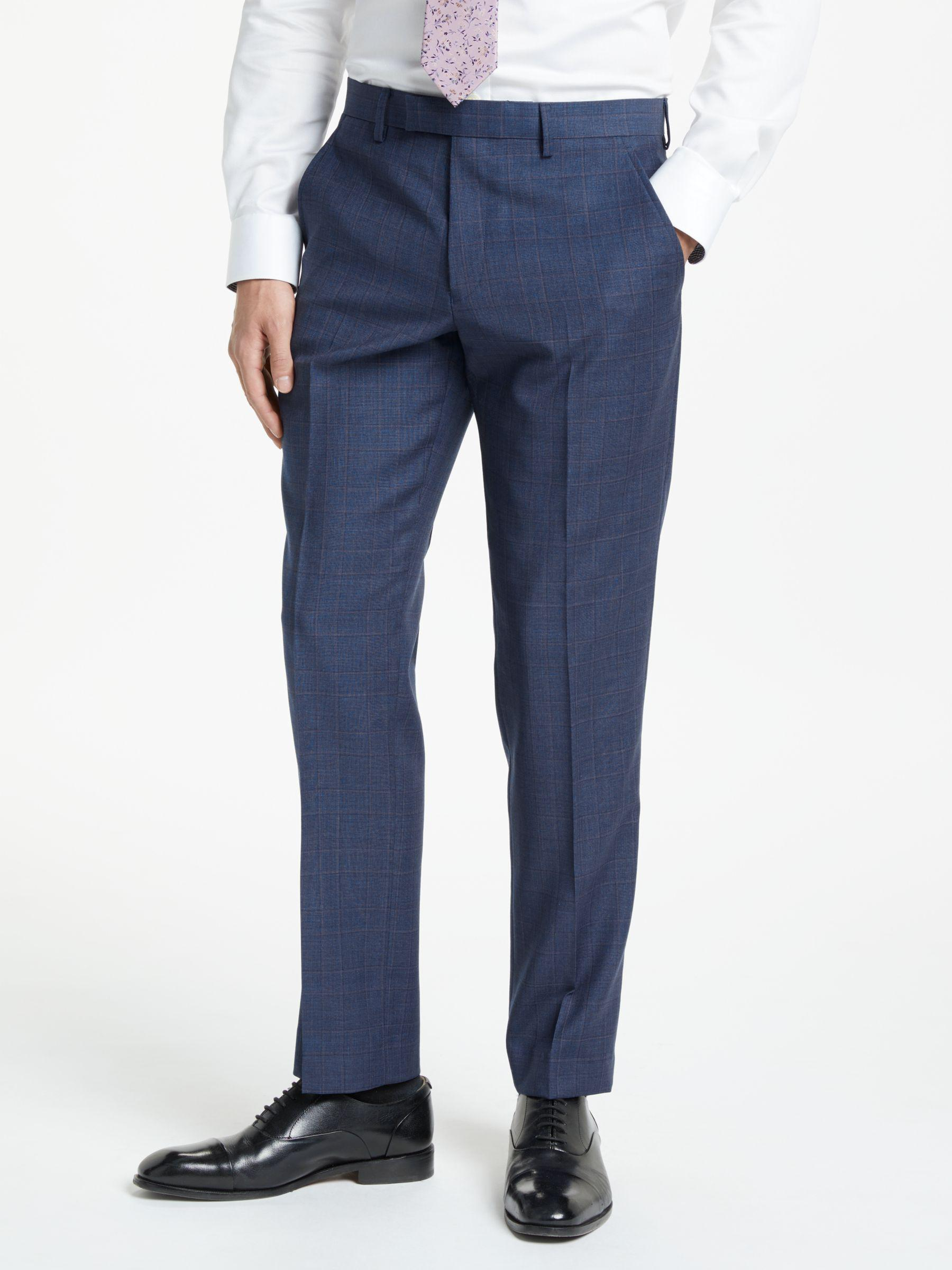 cb18d5f2dee5 John Lewis Wool Check Tailored Suit Trousers in Blue for Men - Lyst