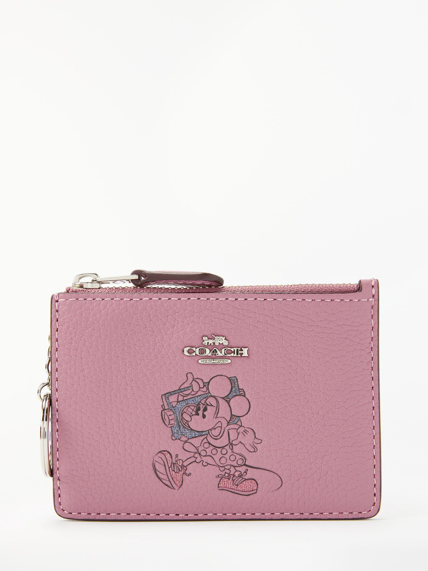 5396d6a8c86b COACH Disney X Minnie Leather Skinny Coin Purse in Pink - Lyst