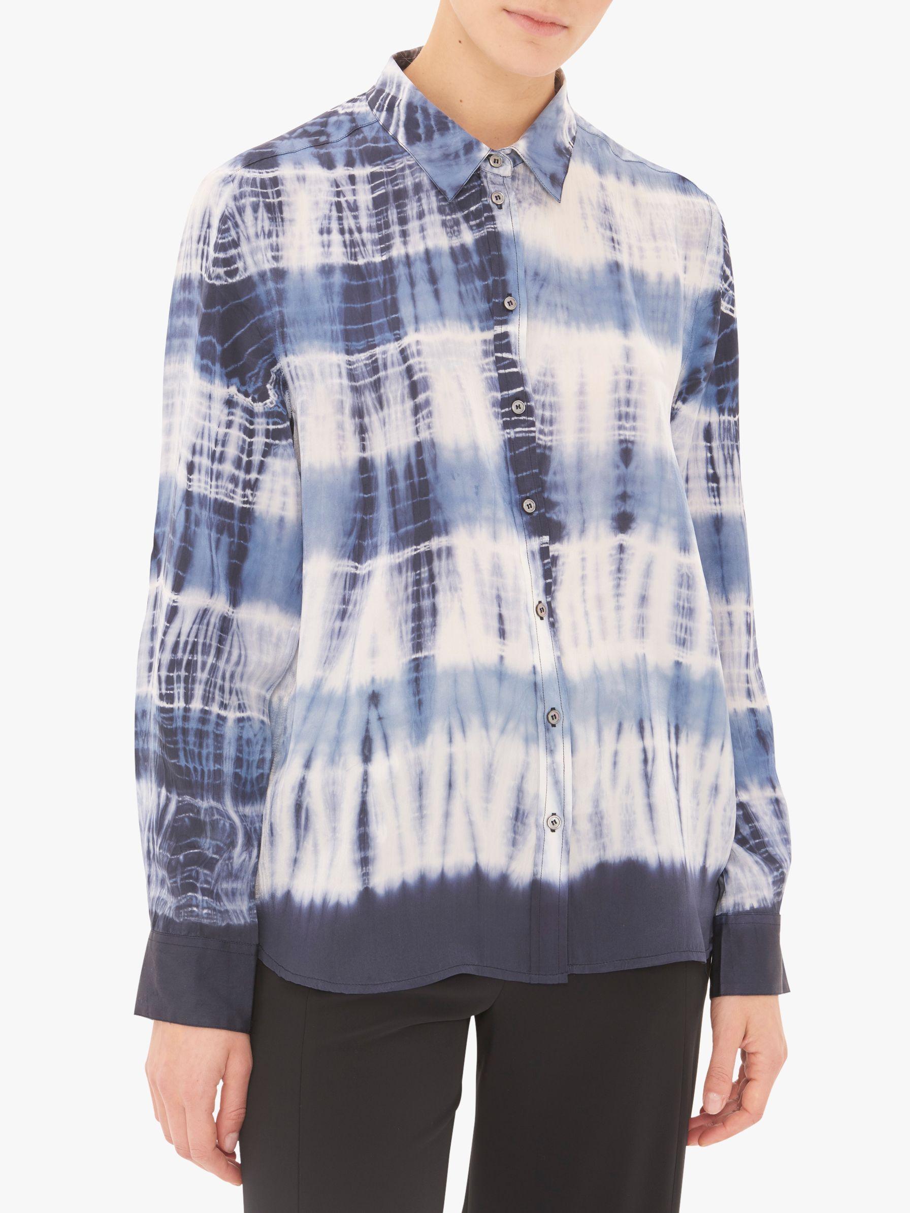 7cfdb757976b Gerard Darel Eden Abstract Print Silk Shirt in Blue - Lyst