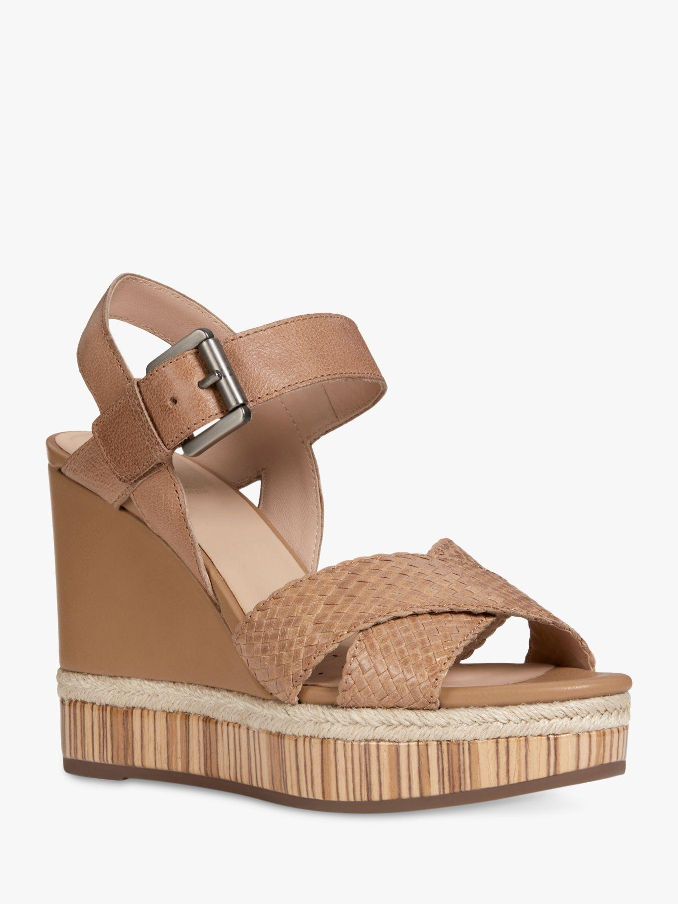 341419b8709 Geox - Brown Women s Yulimar Wedge Heeled Sandals - Lyst. View fullscreen