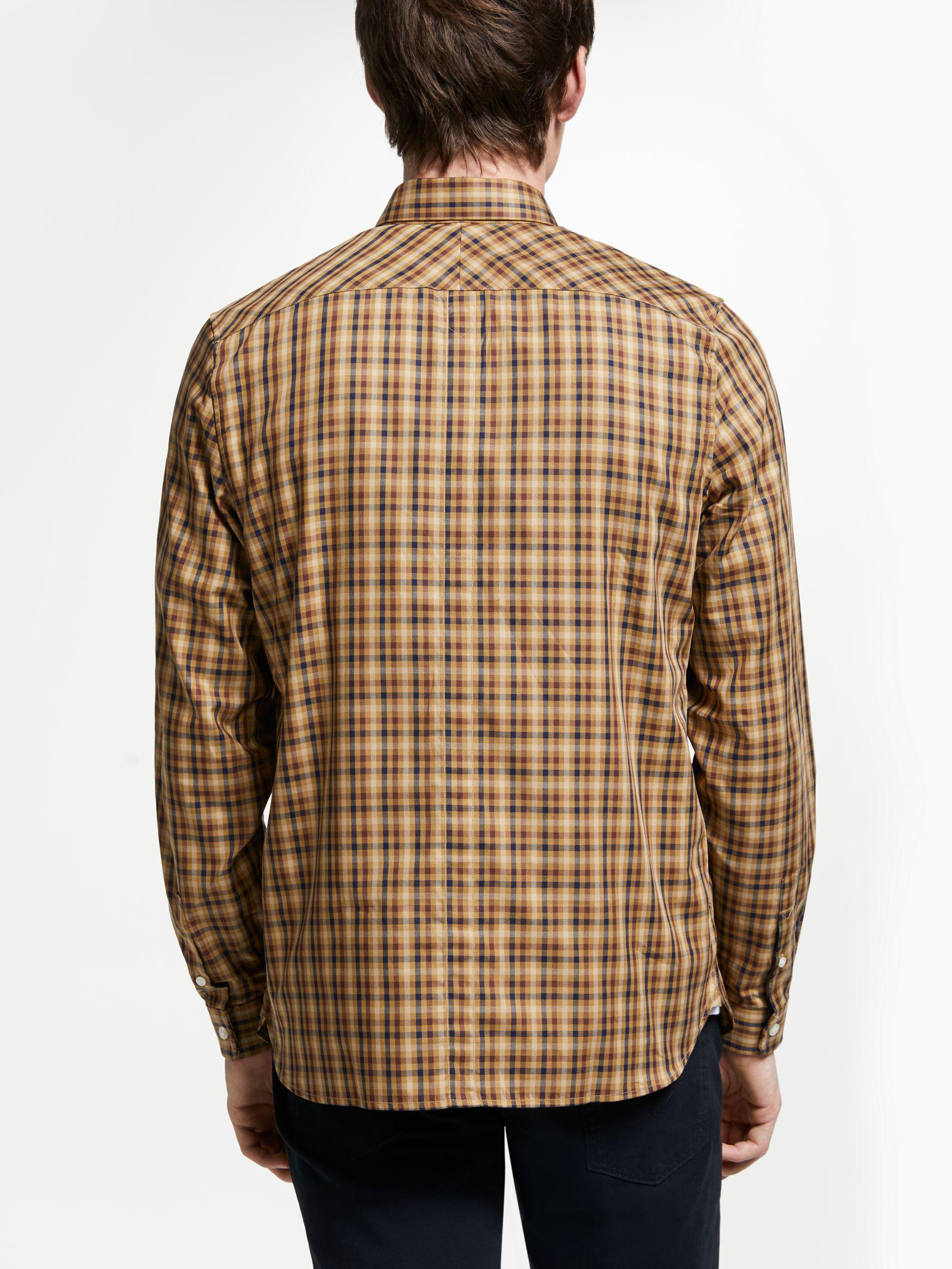 20a0b03a6 Fred Perry Twill Checked Long Sleeve Shirt for Men - Save 32% - Lyst