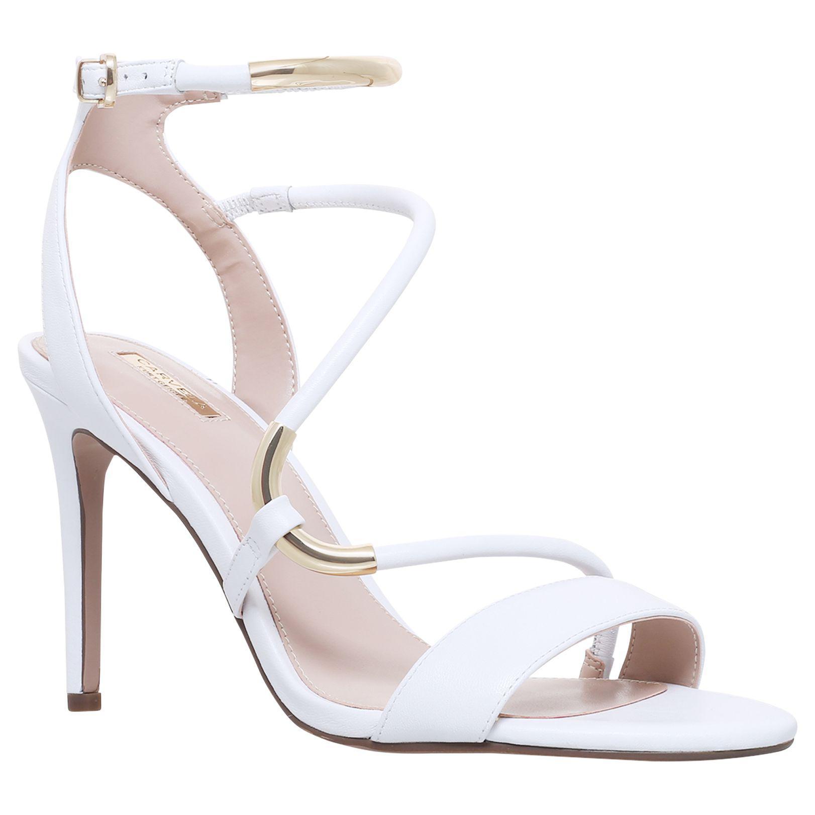 23dc776ea19 Carvela Kurt Geiger Gorge Stiletto Heel Sandals in White - Lyst