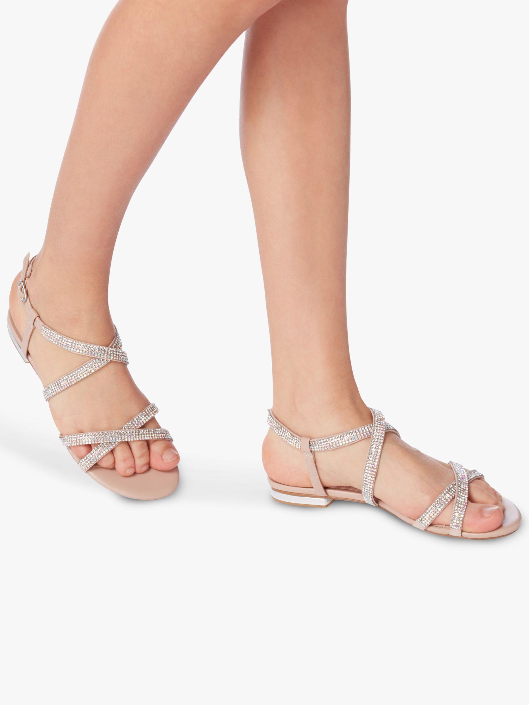861de0084 Dune Neevie Diamante Embellished Sandals - Lyst