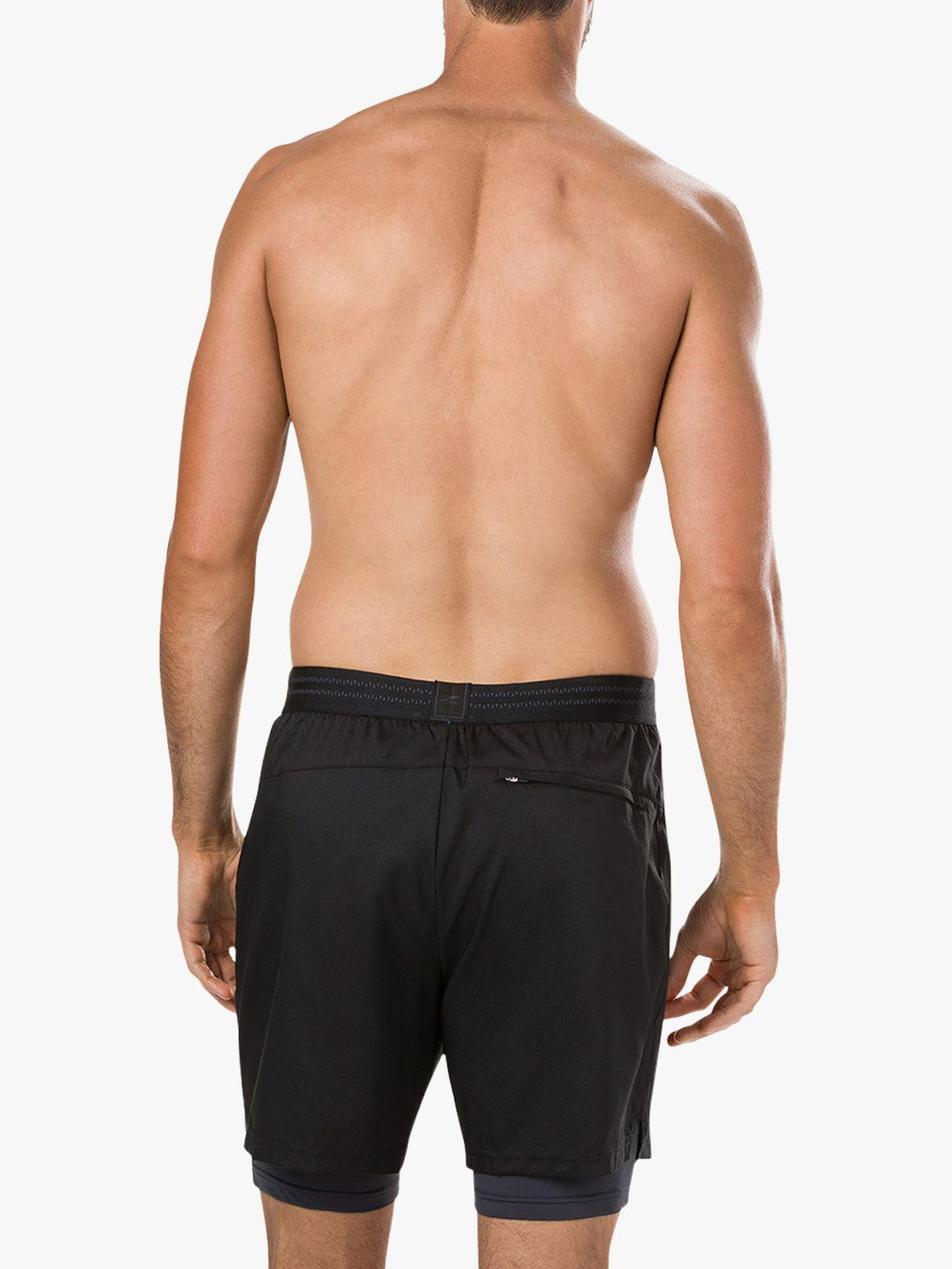 11602eb79b Speedo - Black Reflectwave Flex 2-in-1 Swim Shorts for Men - Lyst. View  fullscreen