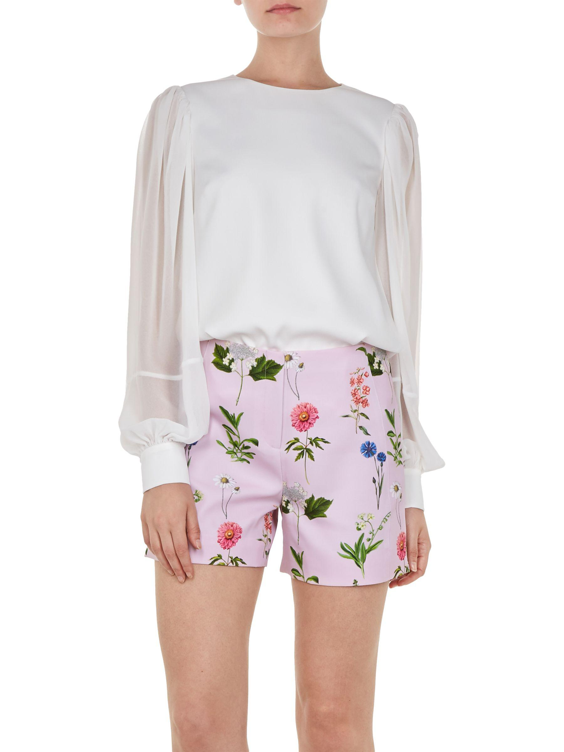 b5ca4e239 Ted Baker Neeva Floral Shorts in Pink - Lyst