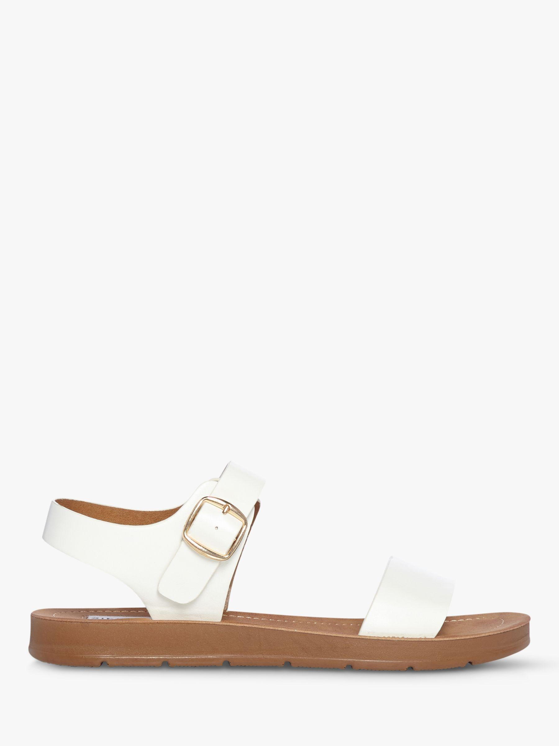 9d4f2e46de1 Steve Madden. Women s White Probable Two Part Flat Sandals. £55 From John  Lewis and Partners