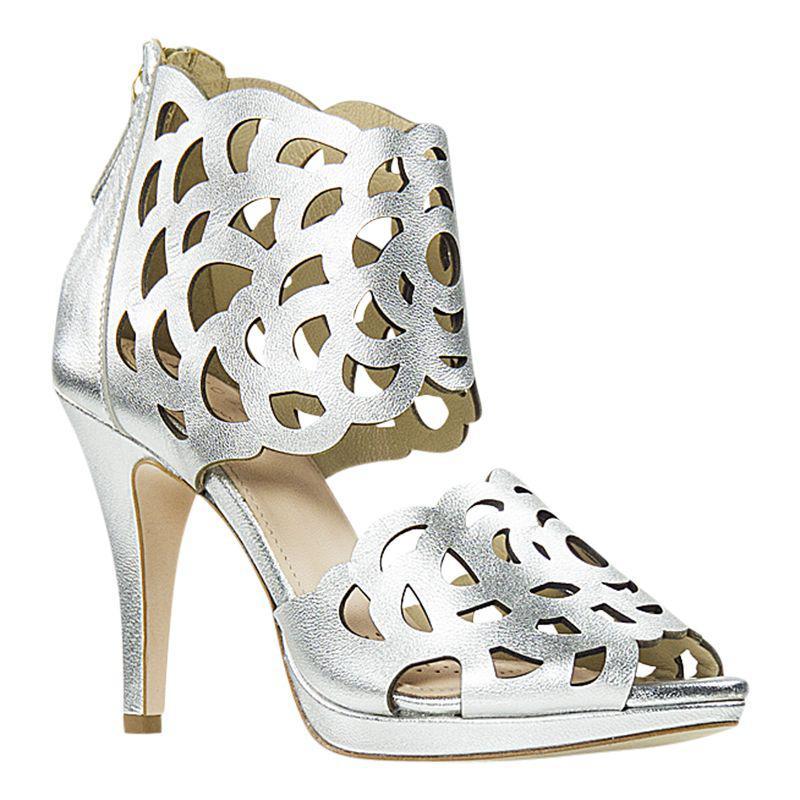 2dff30a9aa27 SARGOSSA - Metallic Inspire Heeled Sandals - Lyst. View fullscreen